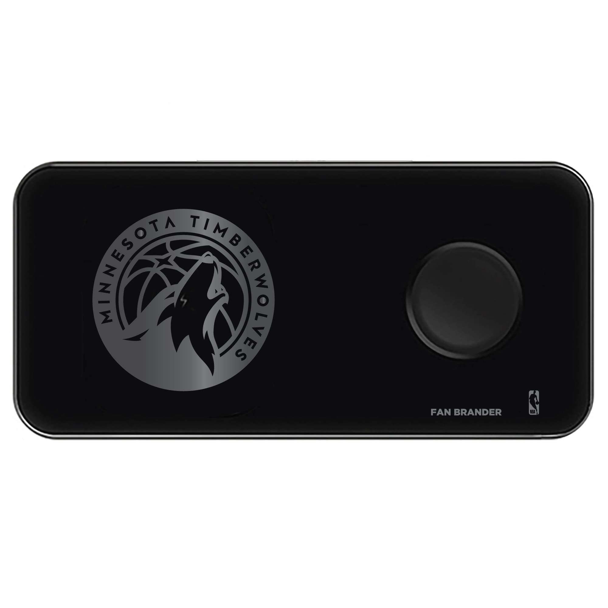 Minnesota Timberwolves 3-in-1 Glass Wireless Charge Pad - Black