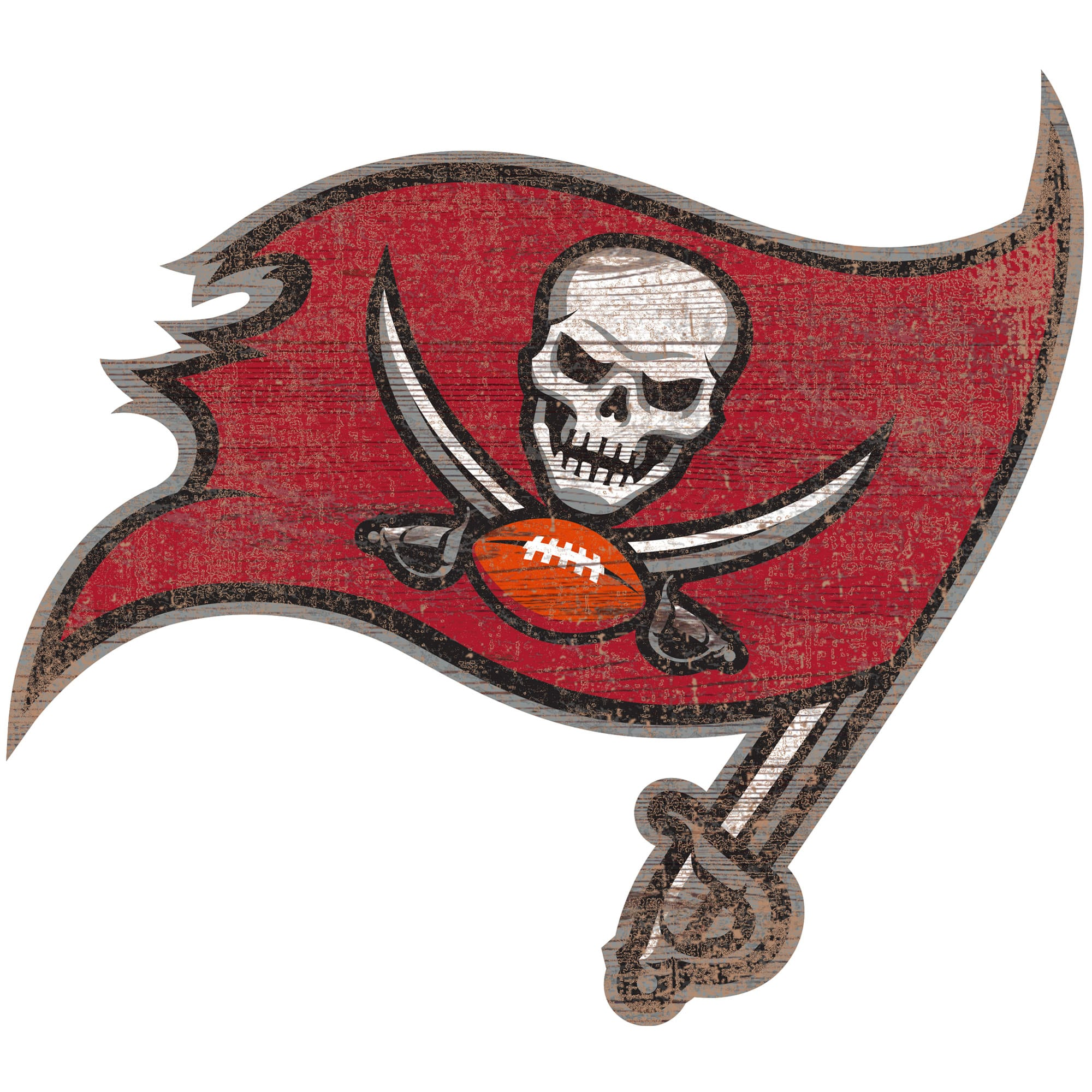 Tampa Bay Buccaneers 24'' x 24'' Distressed Logo Cutout Sign
