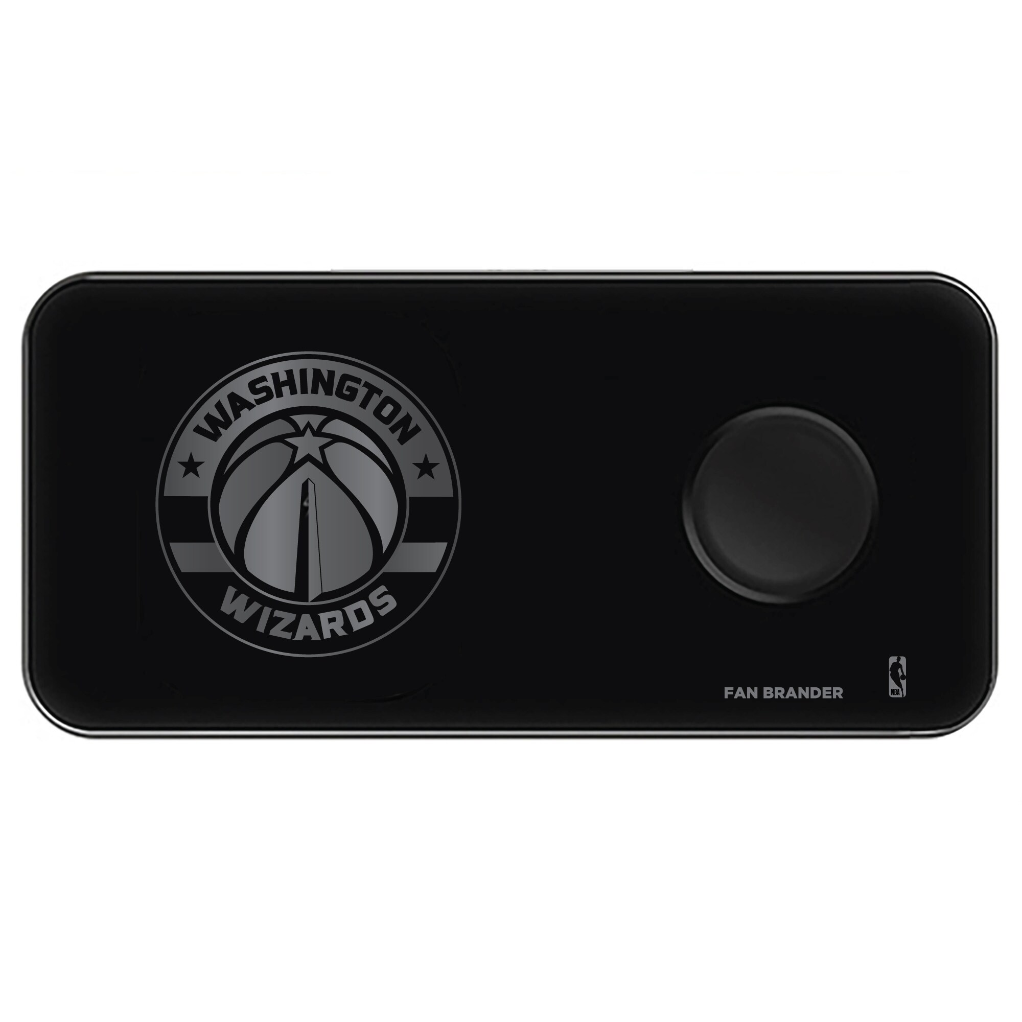 Washington Wizards 3-in-1 Glass Wireless Charge Pad - Black