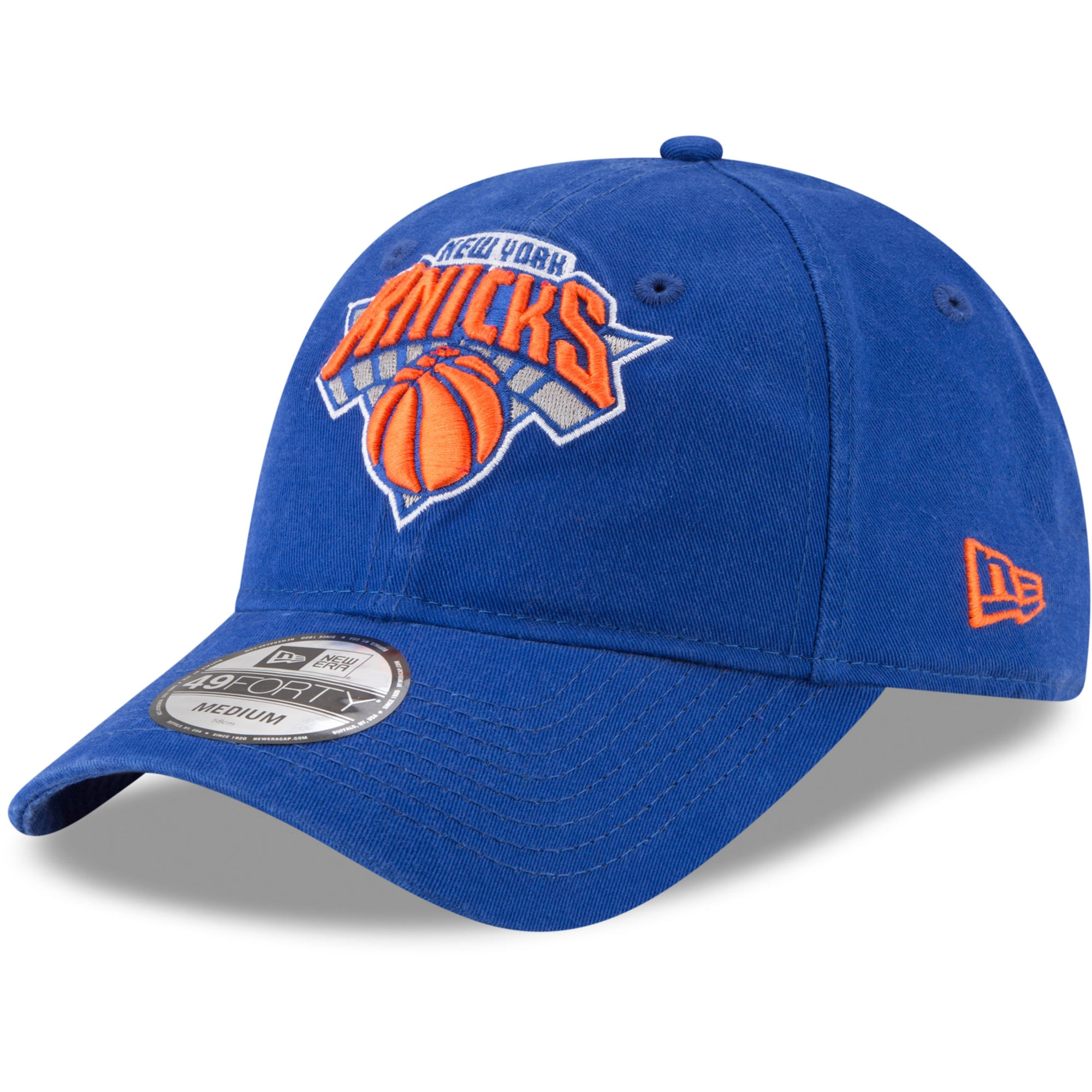 New York Knicks New Era Core Fit 49FORTY Fitted Hat - Blue