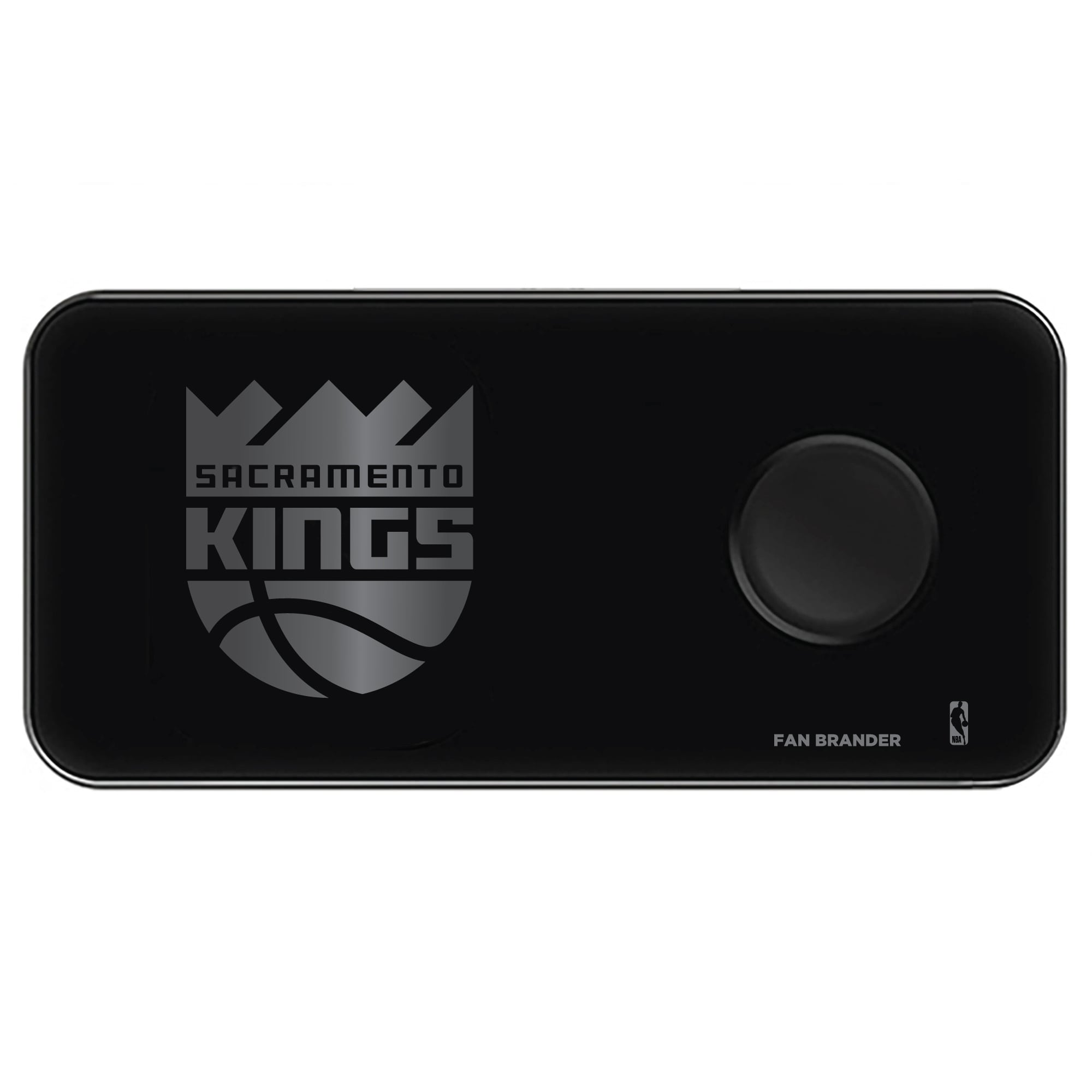 Sacramento Kings 3-in-1 Glass Wireless Charge Pad - Black