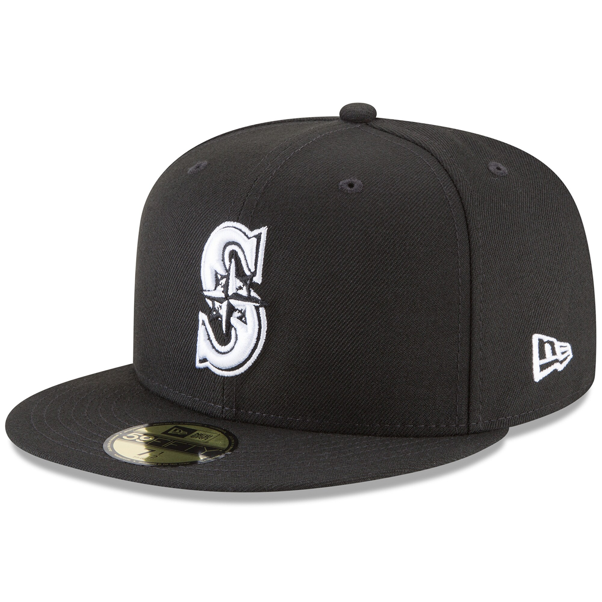 Seattle Mariners New Era 59FIFTY Fitted Hat - Black