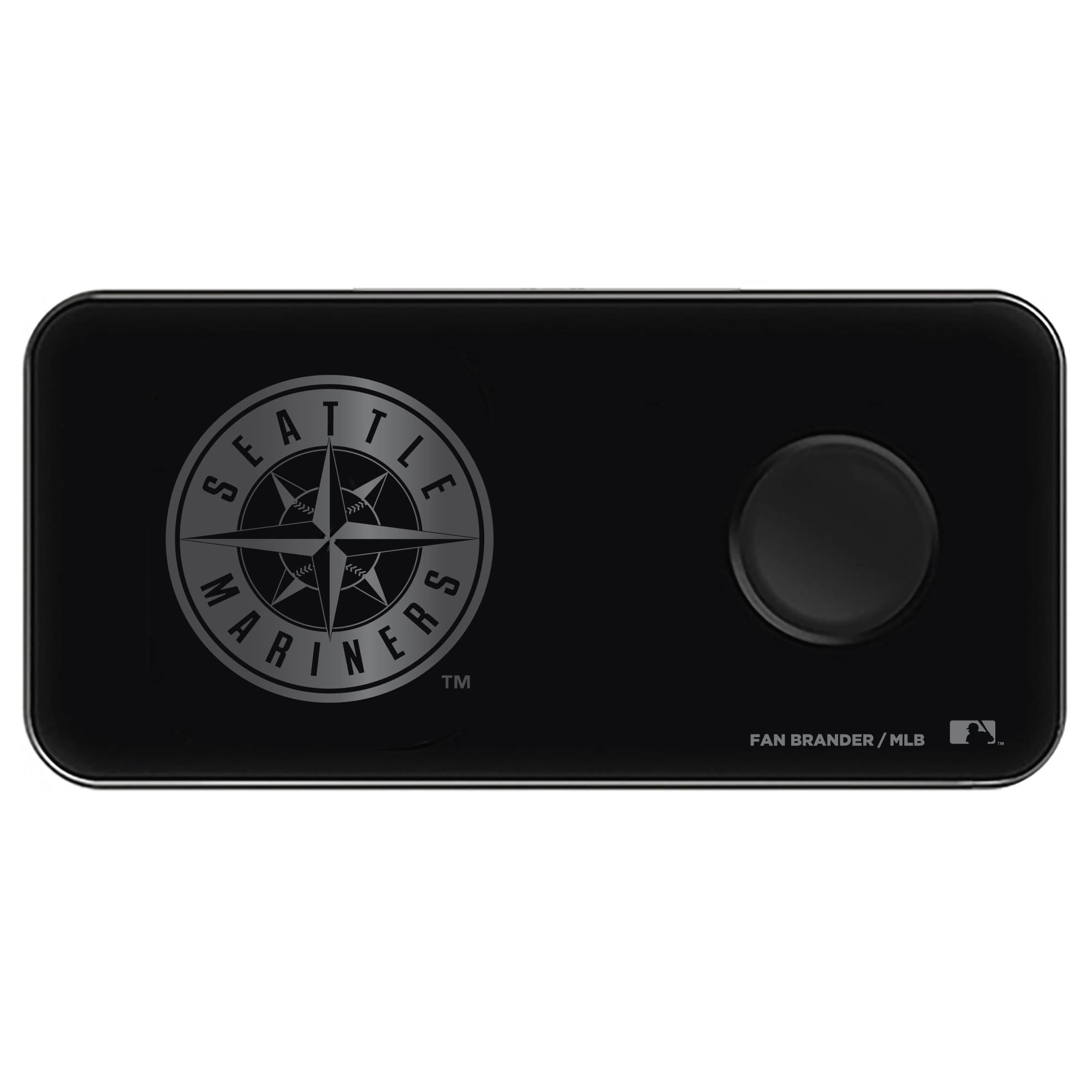 Seattle Mariners 3-in-1 Glass Wireless Charge Pad - Black