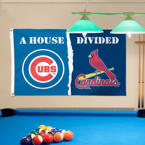 Chicago Cubs/St. Louis Cardinals WinCraft Deluxe 3' x 5' House Divided Flag