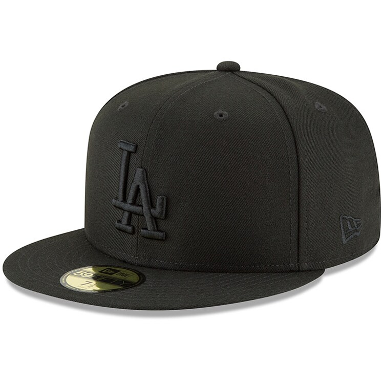 Los Angeles Dodgers New Era Primary Logo Basic 59FIFTY Fitted Hat - Black