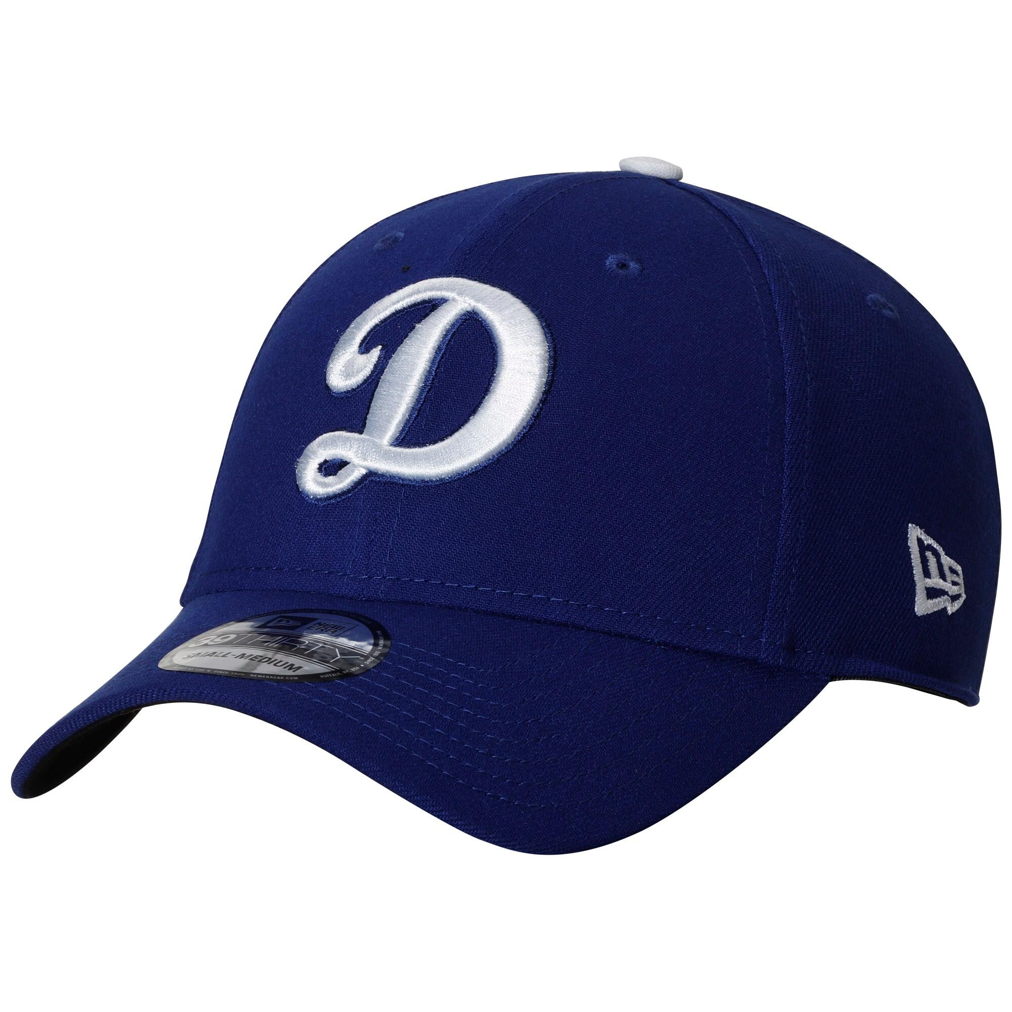 Los Angeles Dodgers New Era D Script Logo Team Classic 39THIRTY Flex Hat - Royal