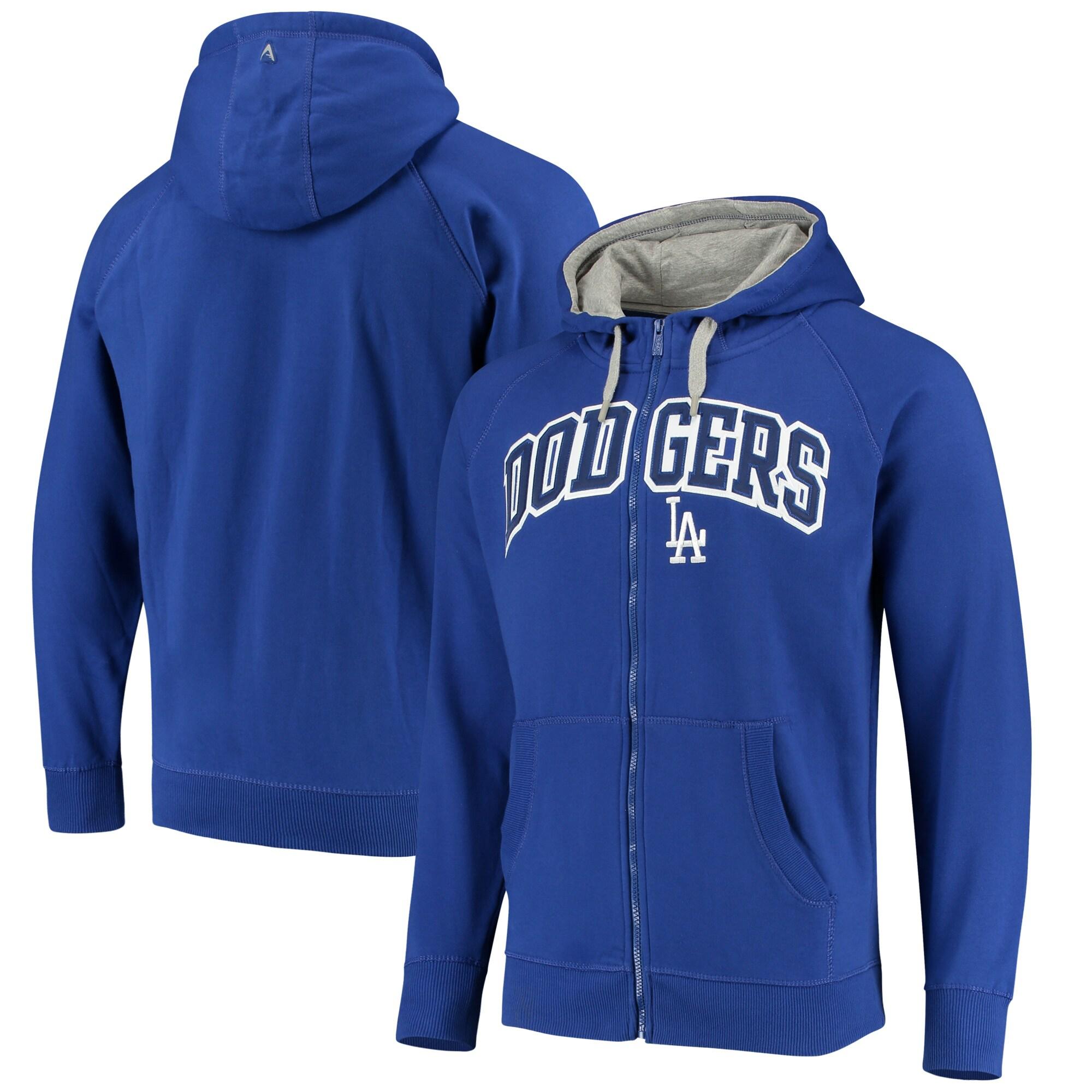 Los Angeles Dodgers Antigua Team Victory Full-Zip Hoodie - Royal