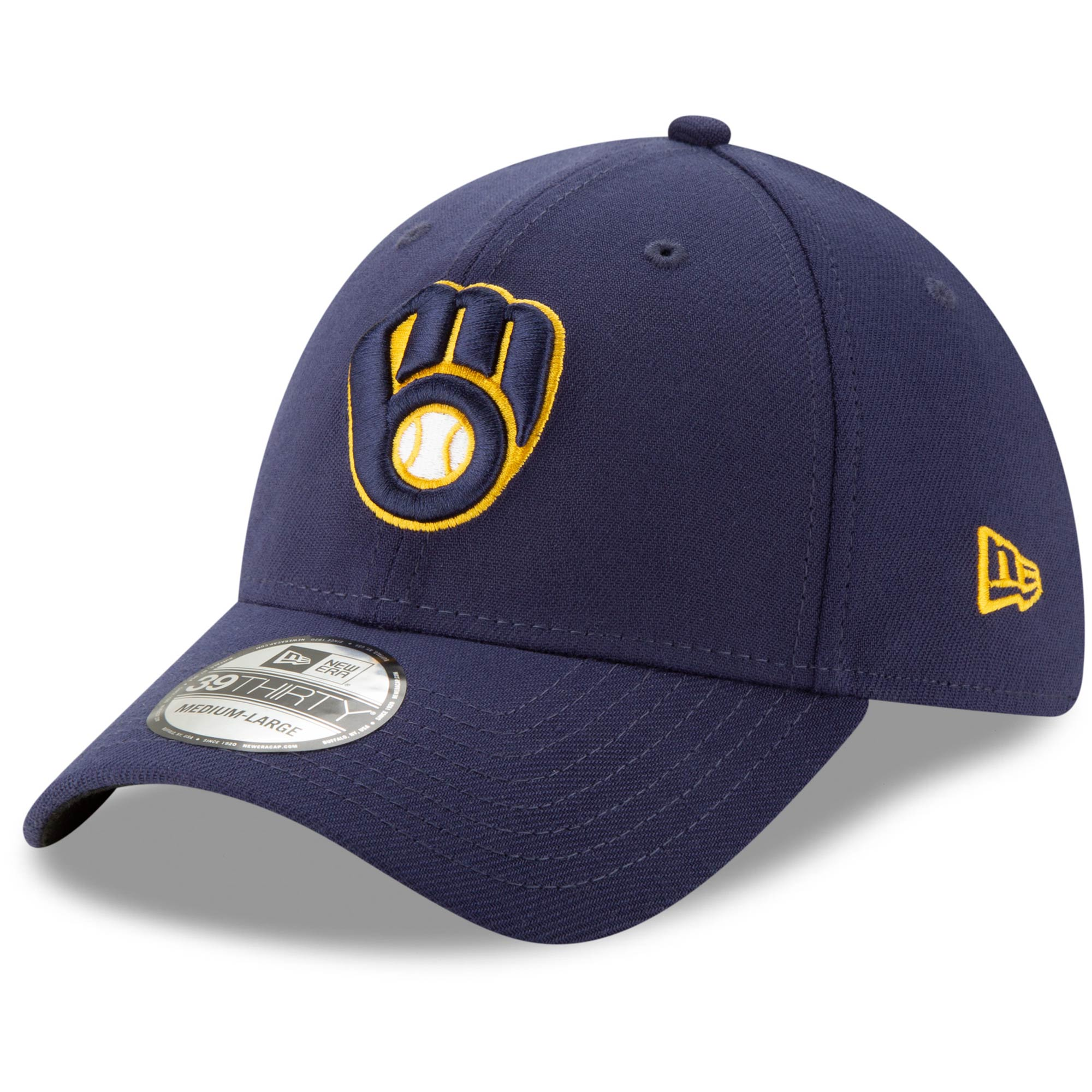 Milwaukee Brewers New Era Game Team Classic 39THIRTY Flex Hat - Navy