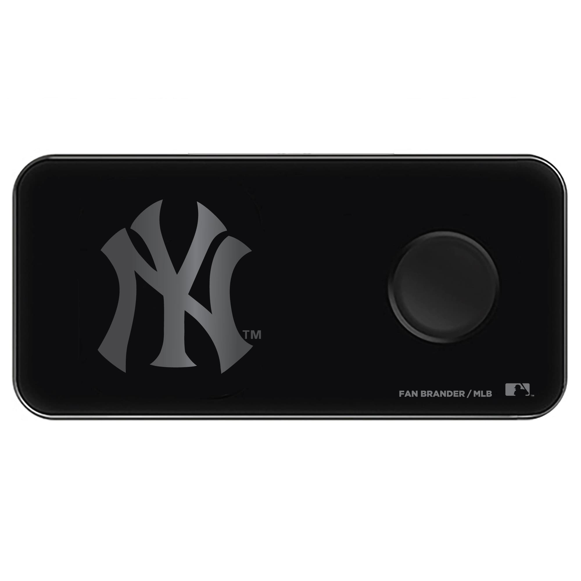 New York Yankees 3-in-1 Glass Wireless Charge Pad - Black