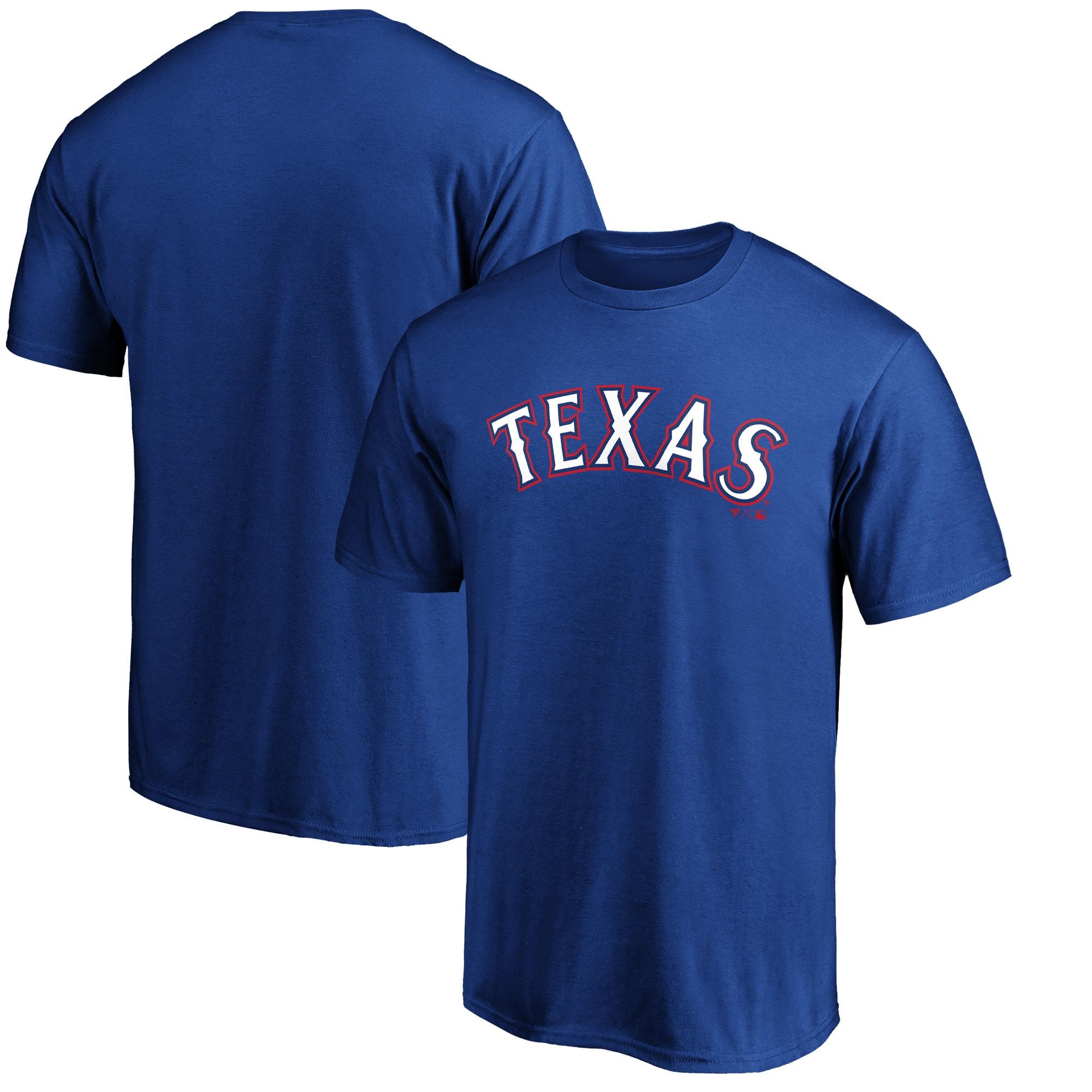 Texas Rangers Fanatics Branded Official Wordmark T-Shirt - Royal