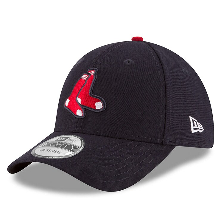 Boston Red Sox New Era League Logo 9FORTY Adjustable Hat - Navy