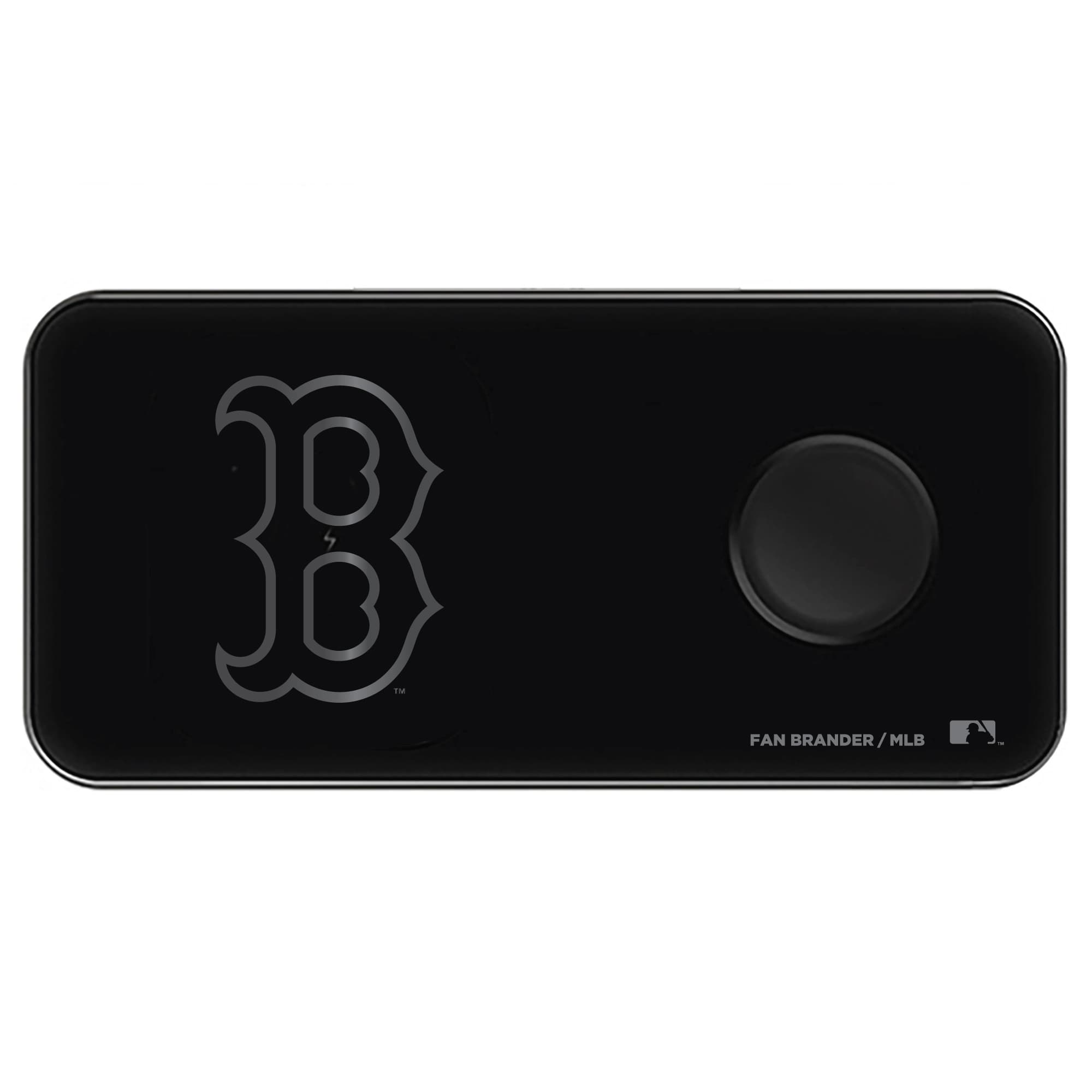 Boston Red Sox 3-in-1 Glass Wireless Charge Pad - Black