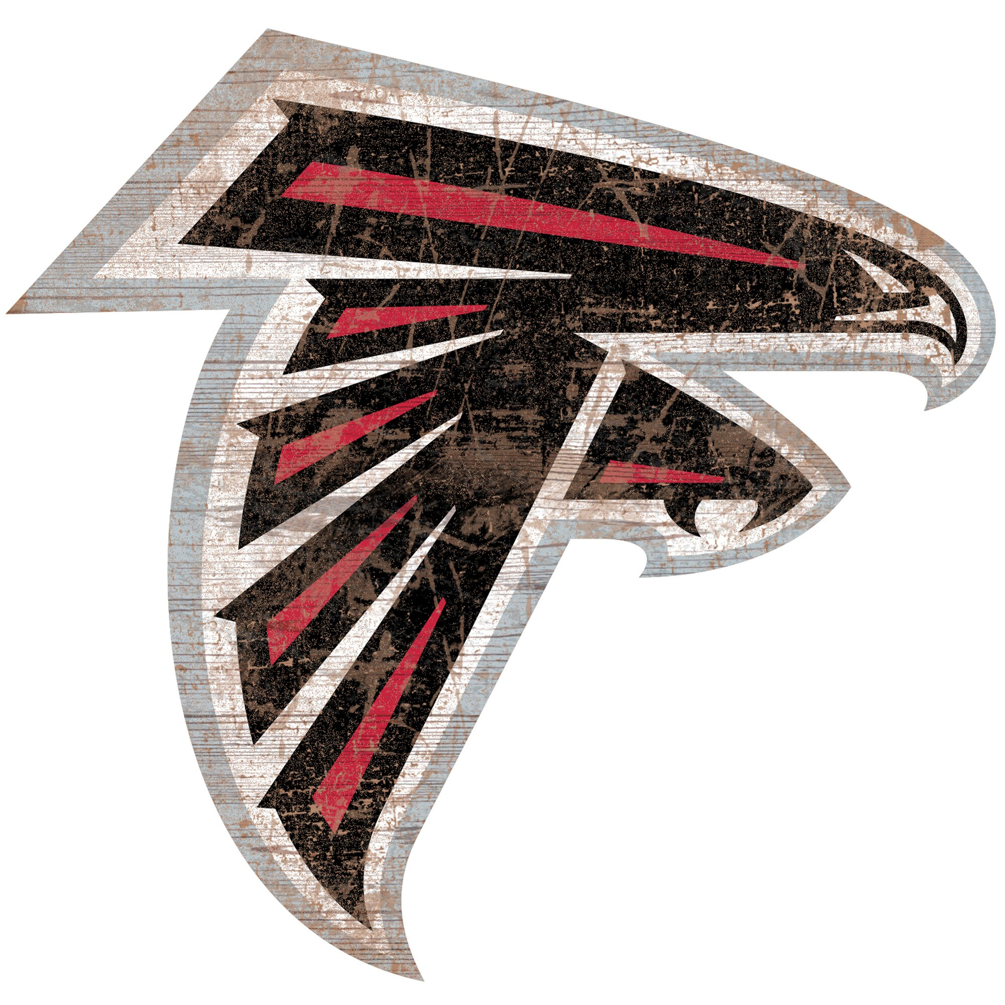 Atlanta Falcons 24'' x 24'' Distressed Logo Cutout Sign