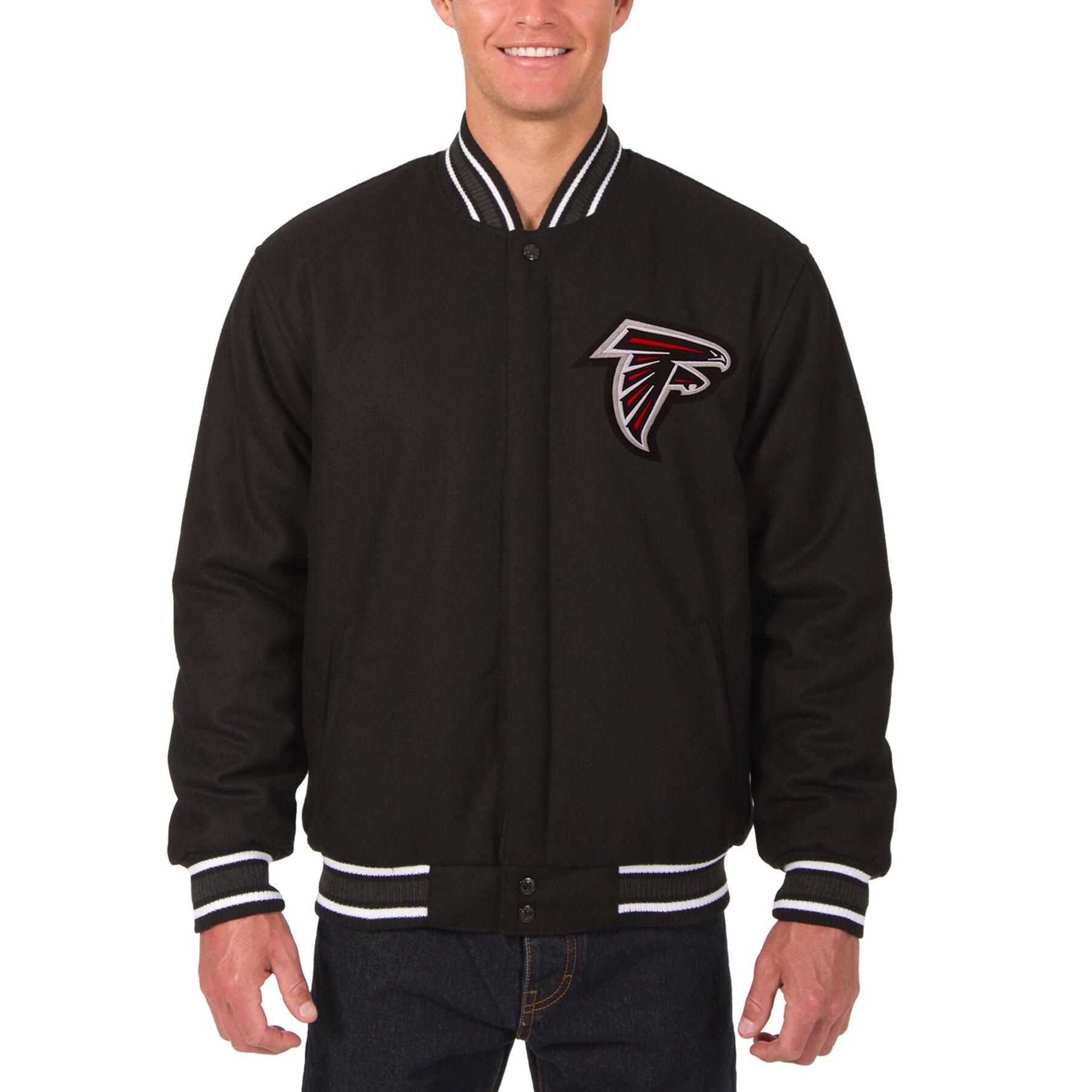 Atlanta Falcons JH Design Wool Reversible Jacket with Embroidered Logos - Black