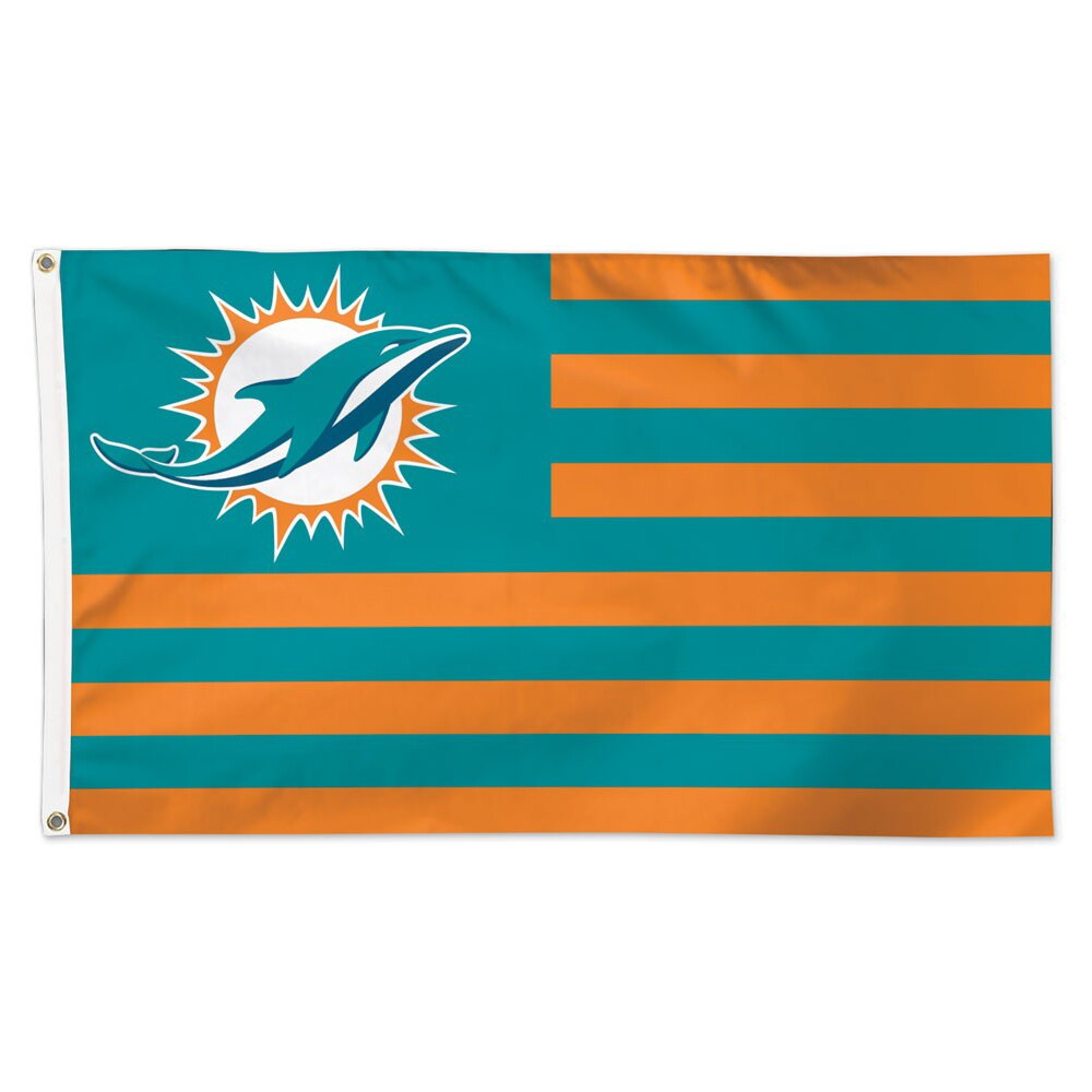 Miami Dolphins WinCraft 3' x 5' Americana Stars & Stripes Deluxe Flag