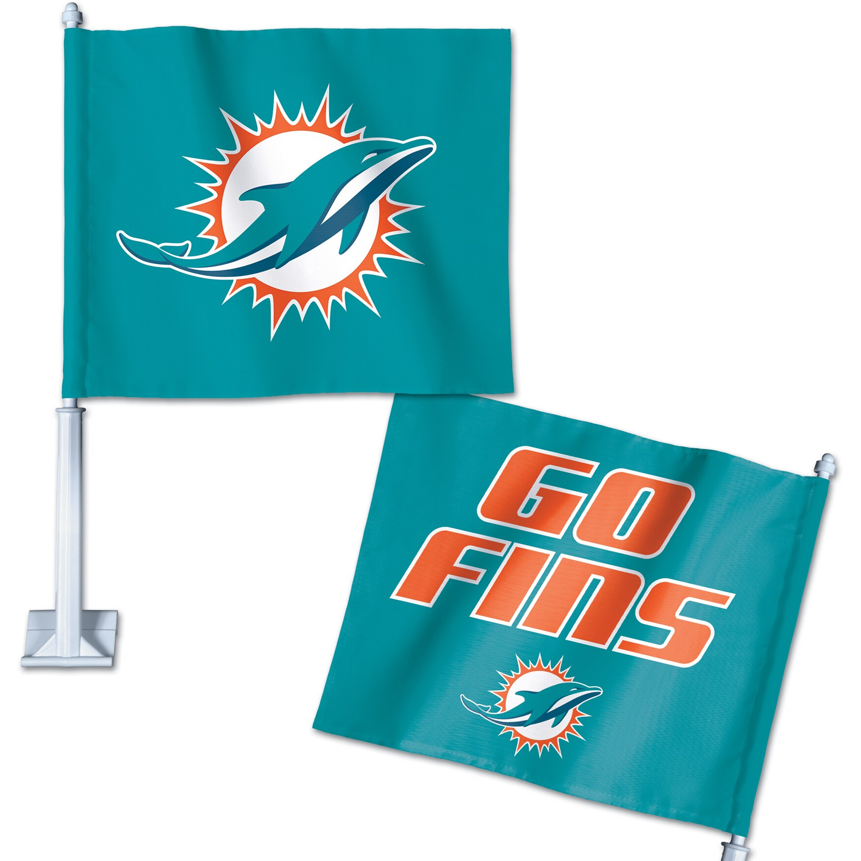 Miami Dolphins WinCraft Double-Sided Slogan Car Flag
