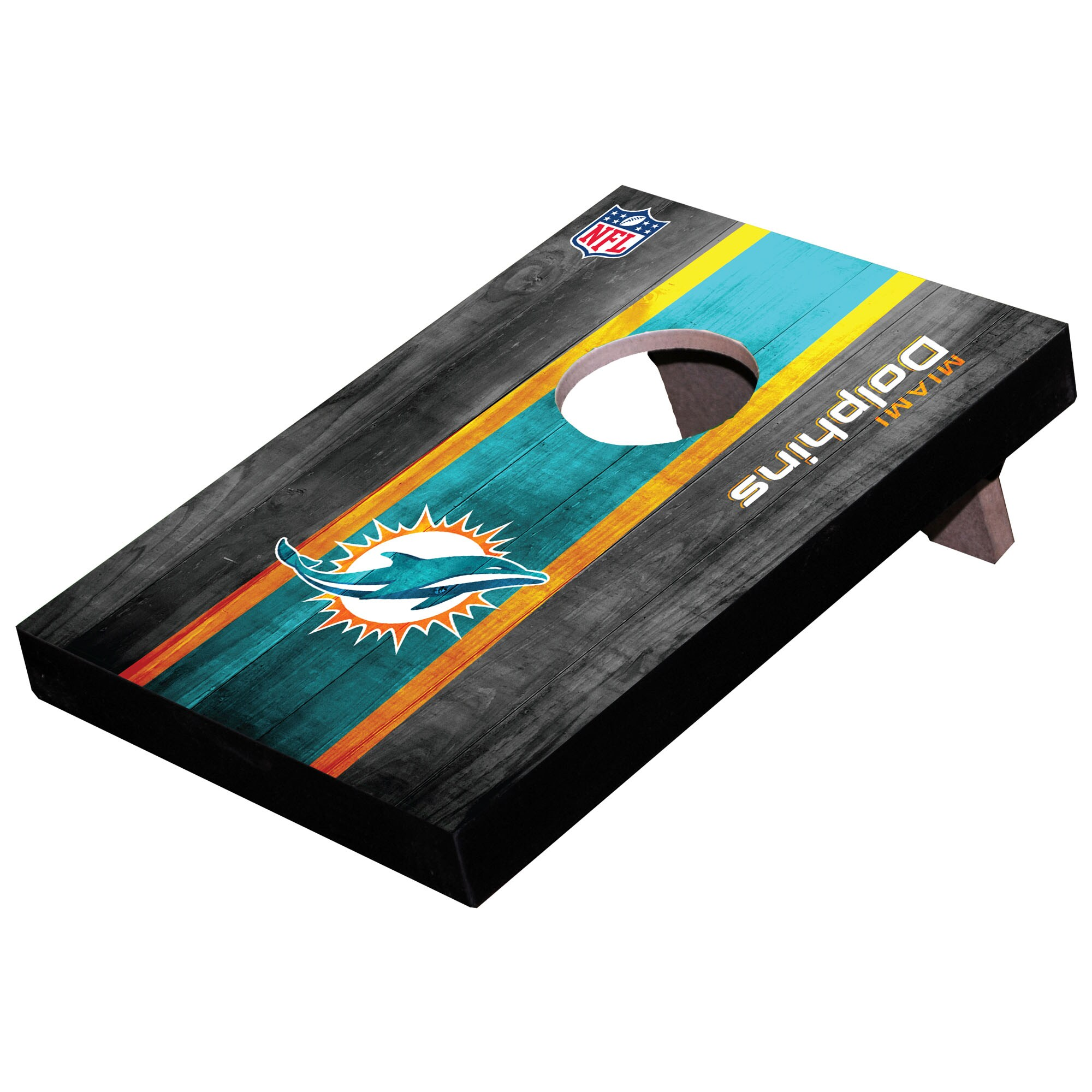 Miami Dolphins Wooden Table Top Toss Set
