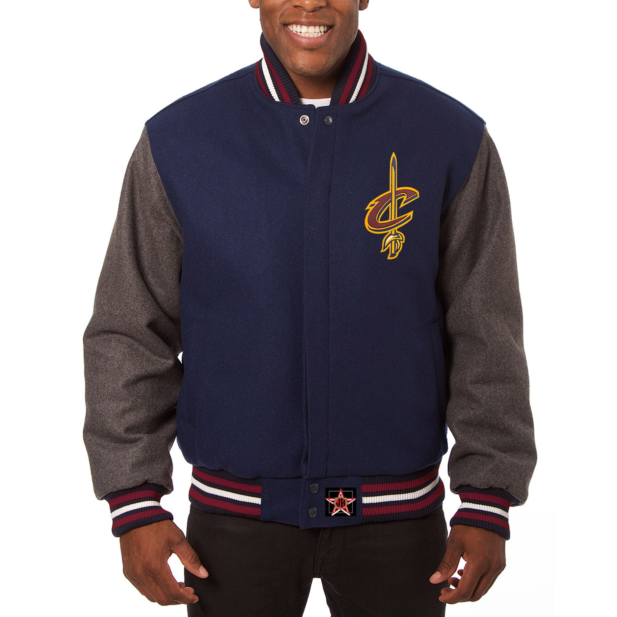 Cleveland Cavaliers JH Design Domestic Two-Tone Wool Jacket - Navy