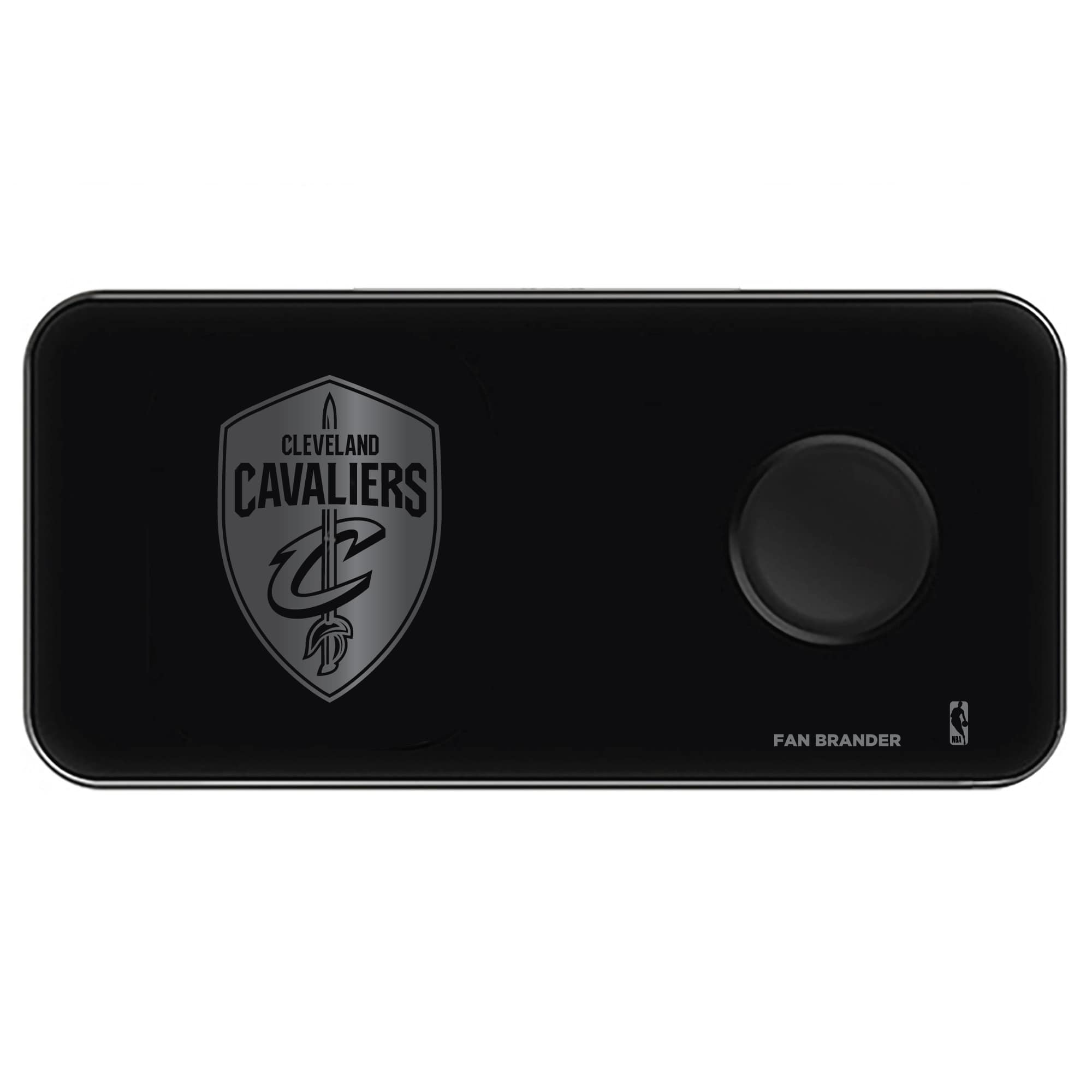 Cleveland Cavaliers 3-in-1 Glass Wireless Charge Pad - Black