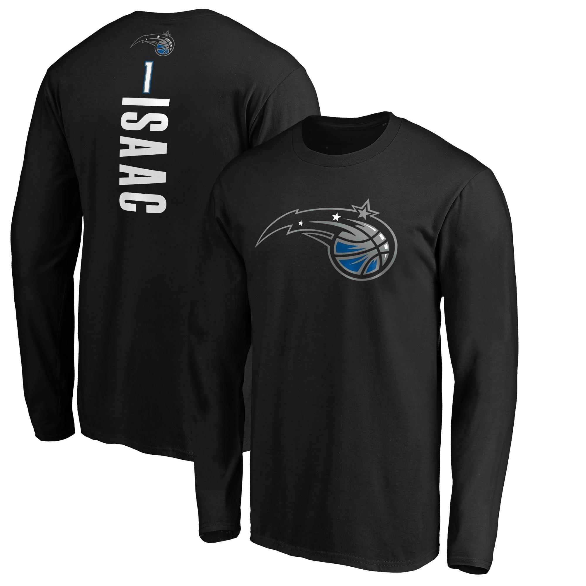 Jonathan Isaac Orlando Magic Fanatics Branded Playmaker Name & Number Long Sleeve T-Shirt - Black