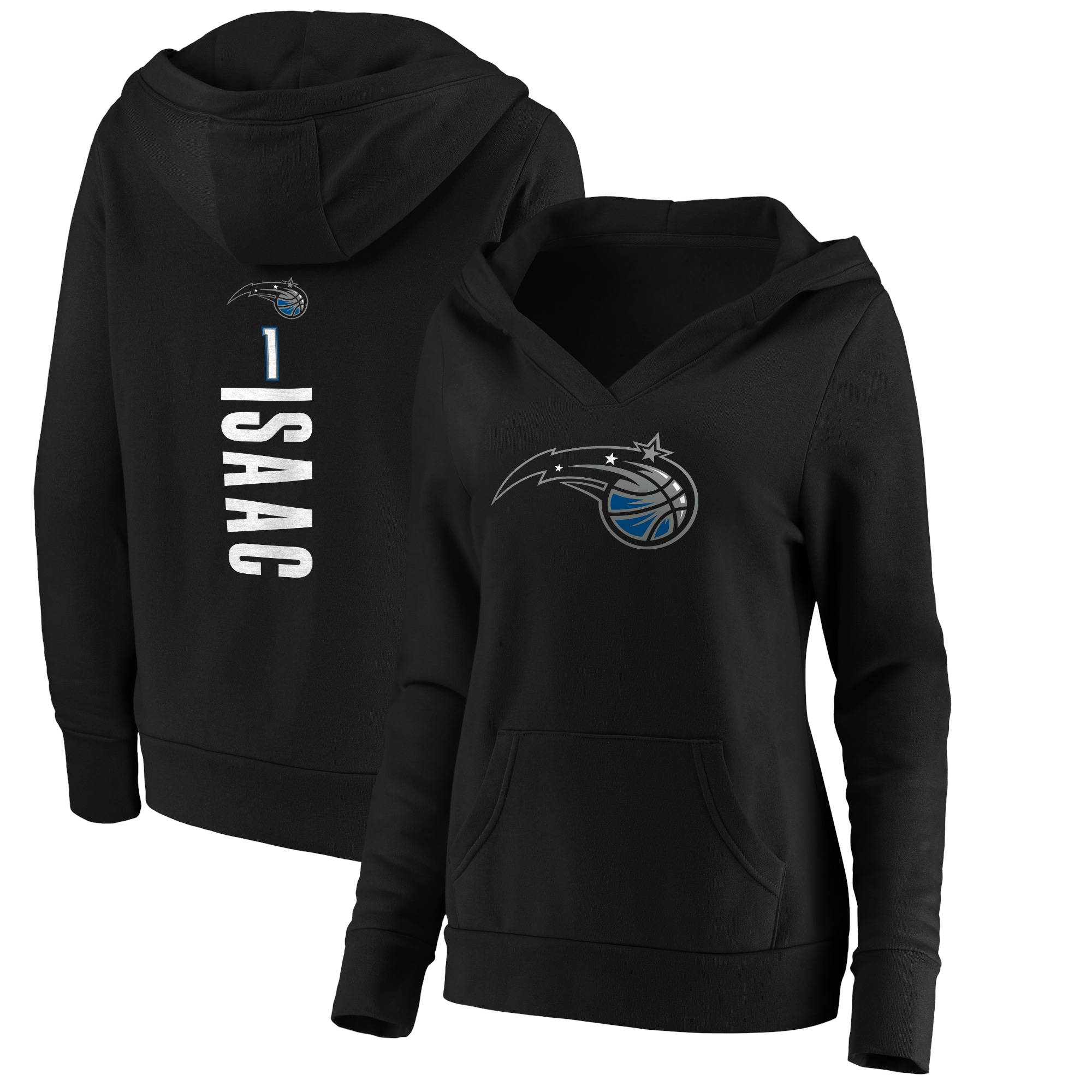 Jonathan Isaac Orlando Magic Fanatics Branded Women's Playmaker Name & Number Pullover Hoodie - Black