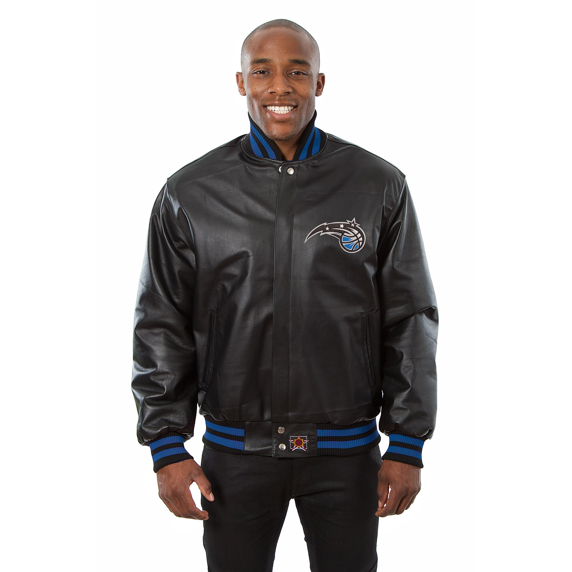 Orlando Magic JH Design Domestic Team Color Leather Jacket - Black