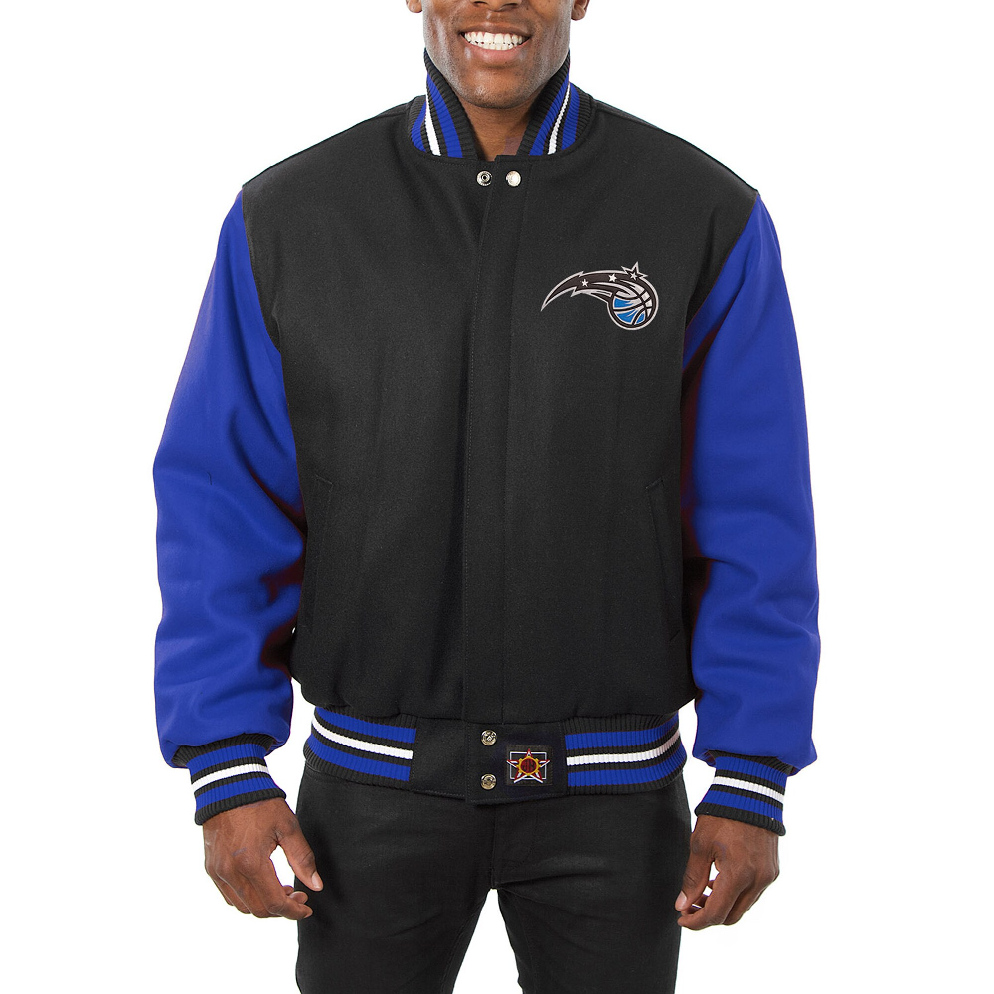 Orlando Magic JH Design Domestic Two-Tone Wool Jacket - Black