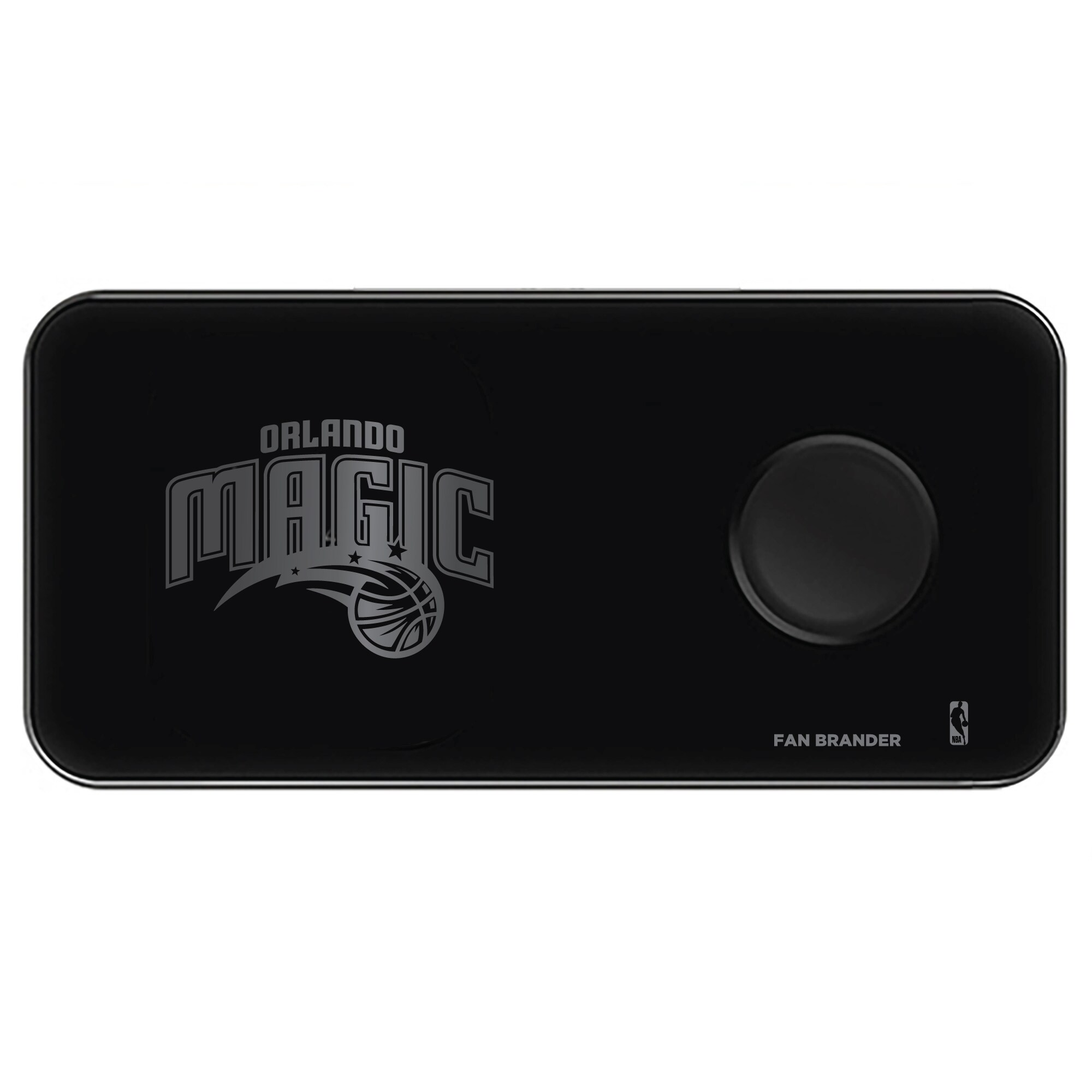 Orlando Magic 3-in-1 Glass Wireless Charge Pad - Black