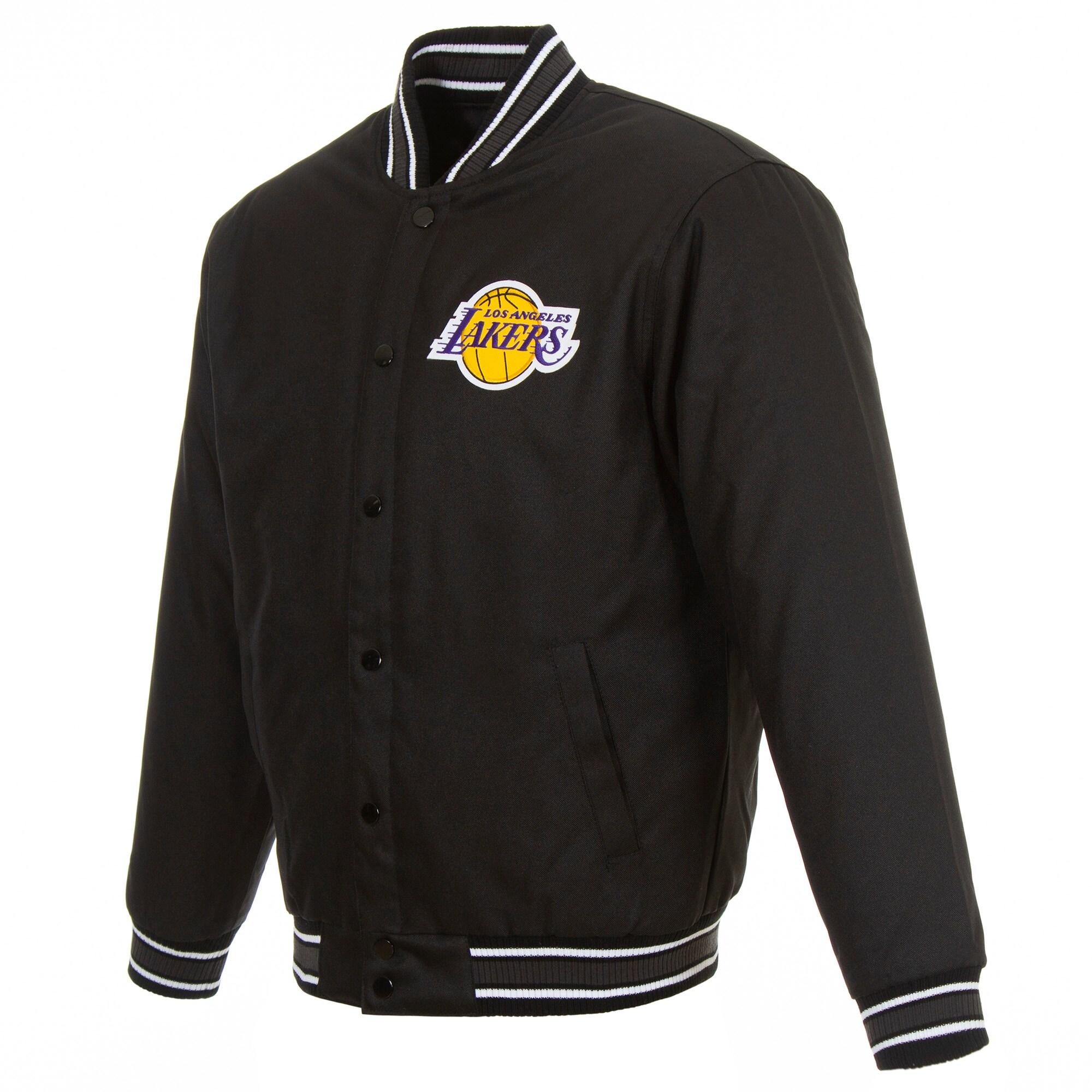 LeBron James Los Angeles Lakers Fanatics Branded Poly-Twill Jacket - Black