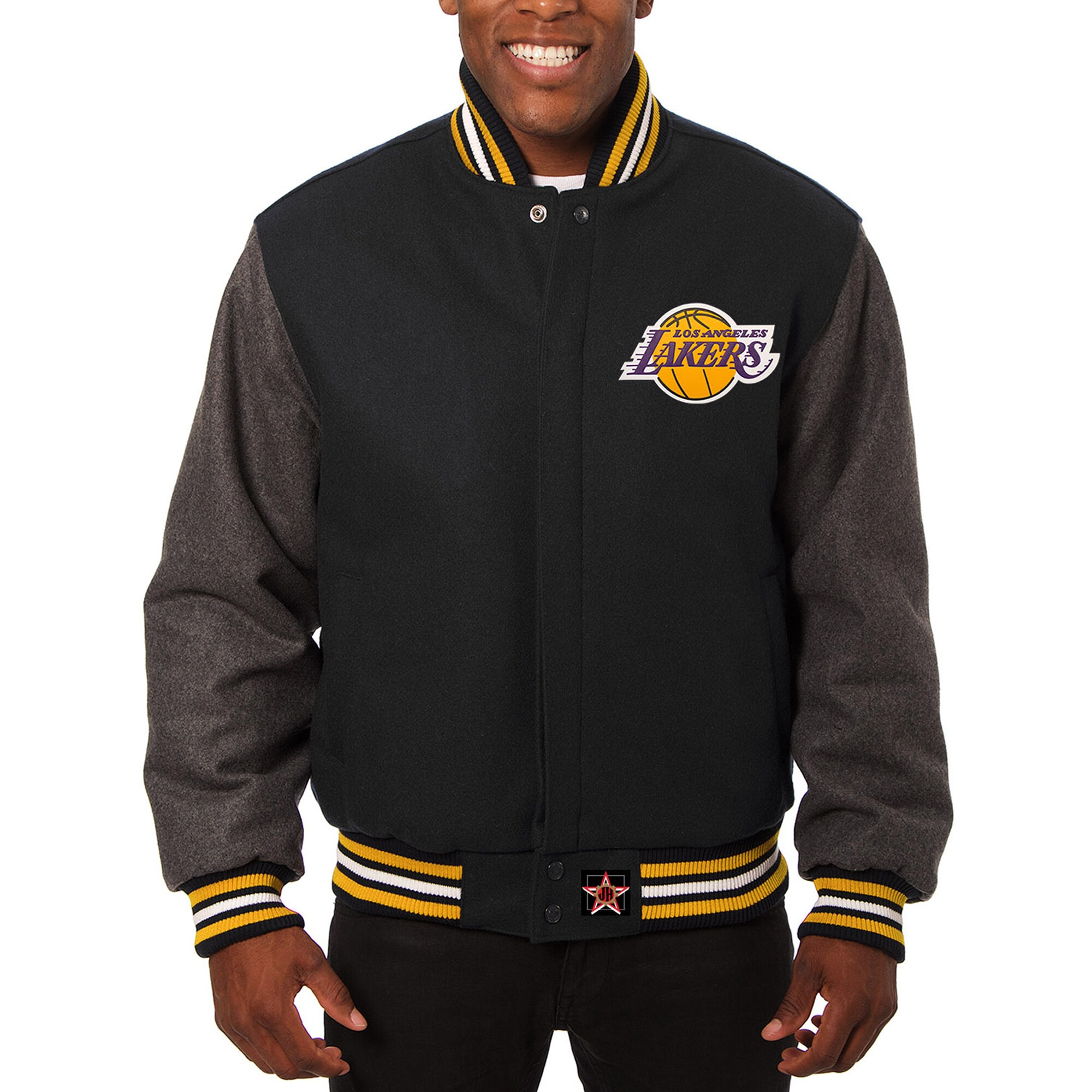 Los Angeles Lakers JH Design Domestic Two-Tone Wool Jacket - Black