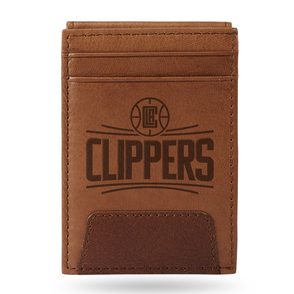 LA Clippers Sparo Leather Front Pocket Wallet
