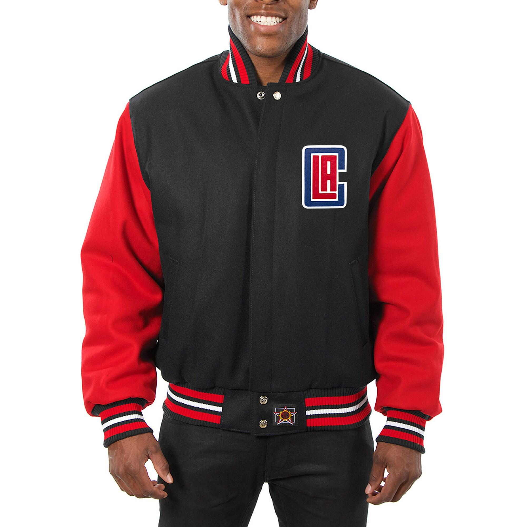LA Clippers JH Design Domestic Two-Tone Wool Jacket - Black