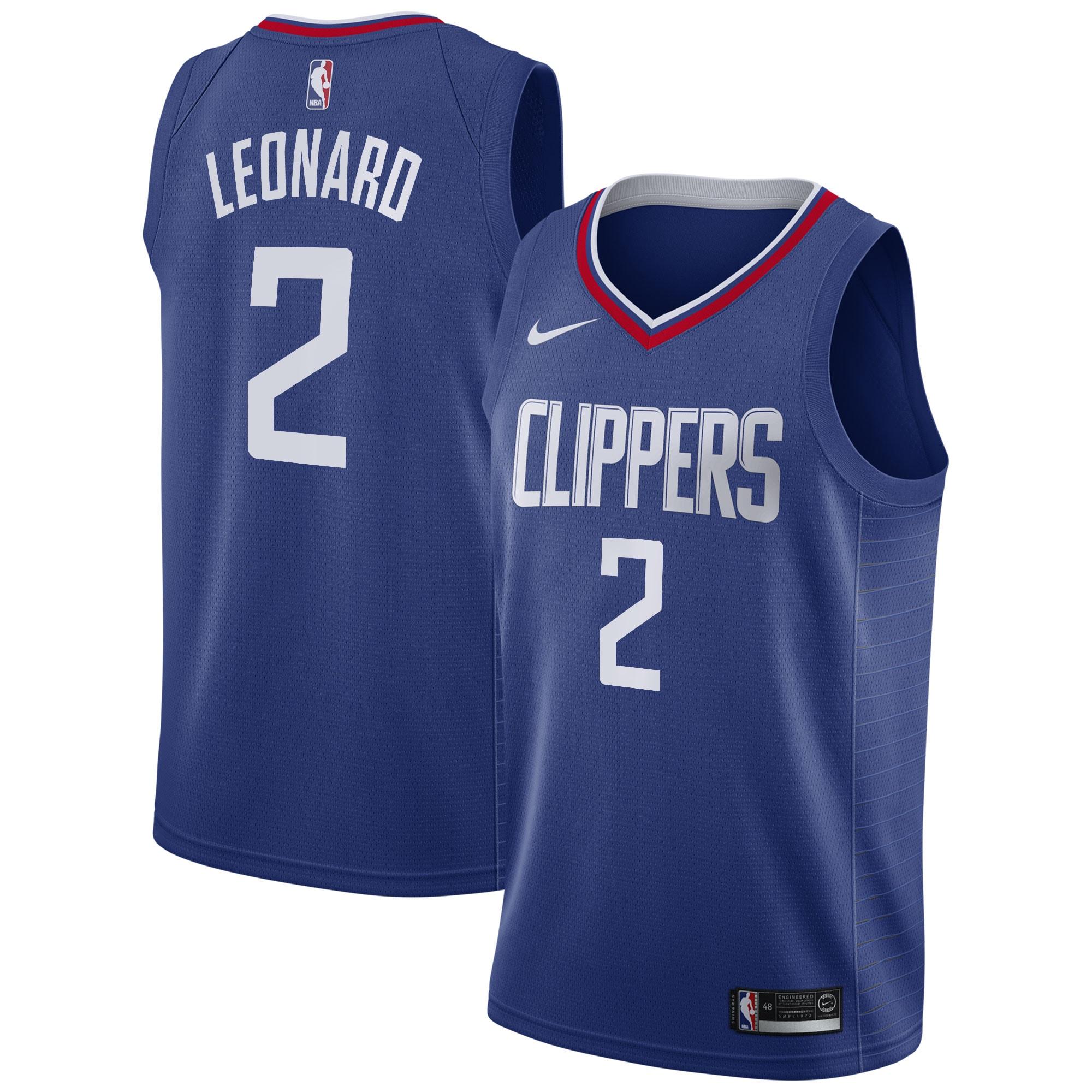 Kawhi Leonard LA Clippers Nike 2019/20 Swingman Jersey Blue - Icon Edition