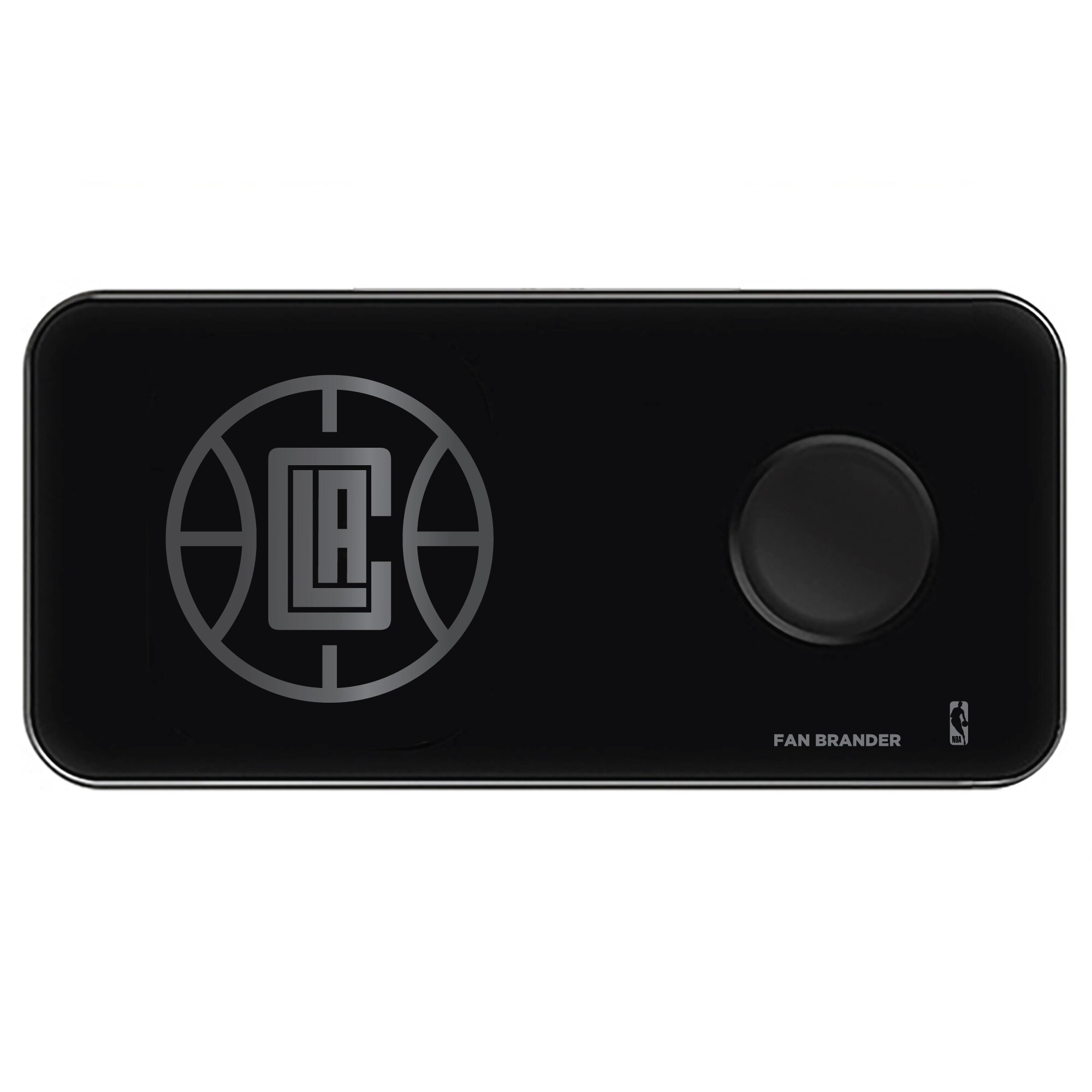 LA Clippers 3-in-1 Glass Wireless Charge Pad - Black