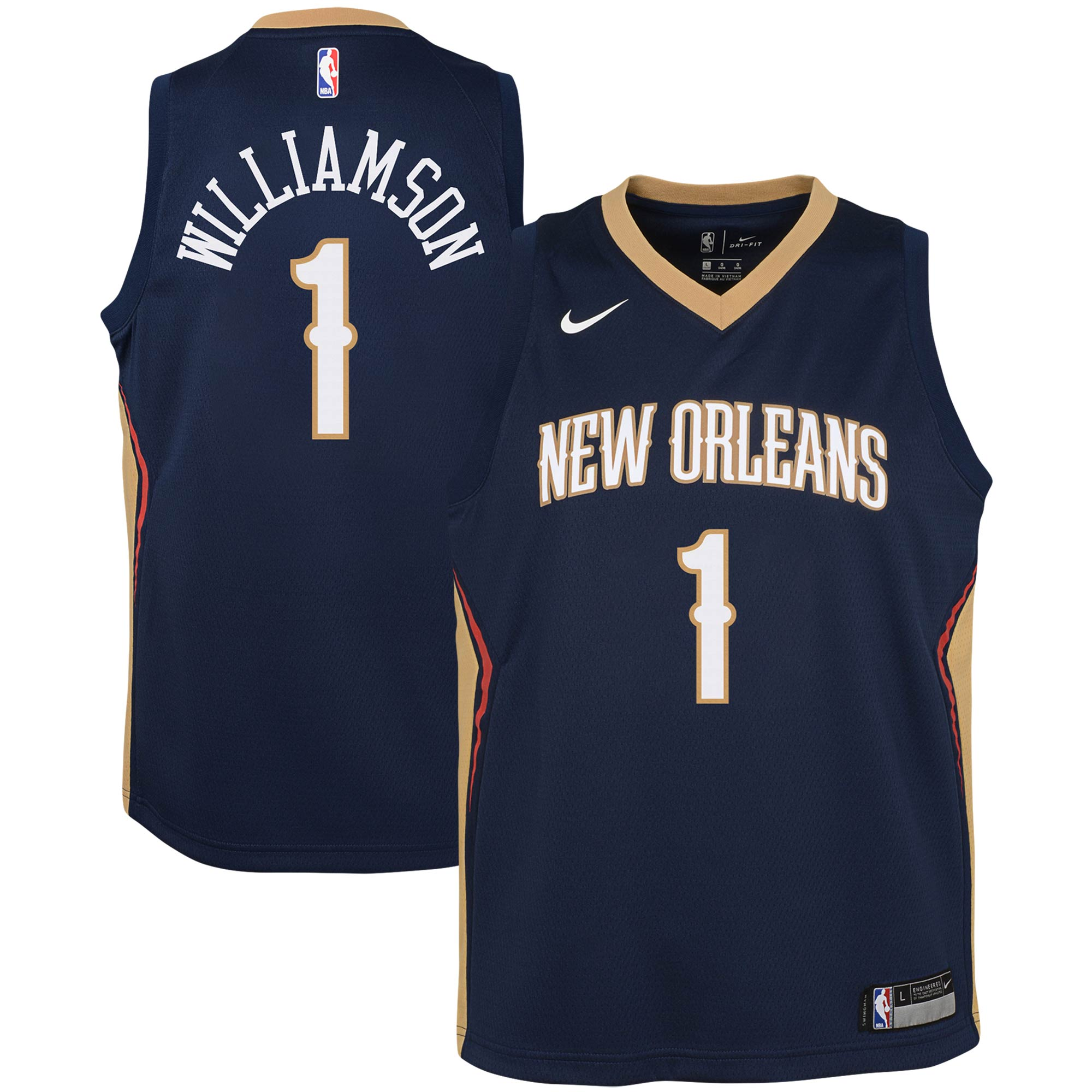 Zion Williamson New Orleans Pelicans Nike Youth Swingman Jersey - Icon Edition - Navy