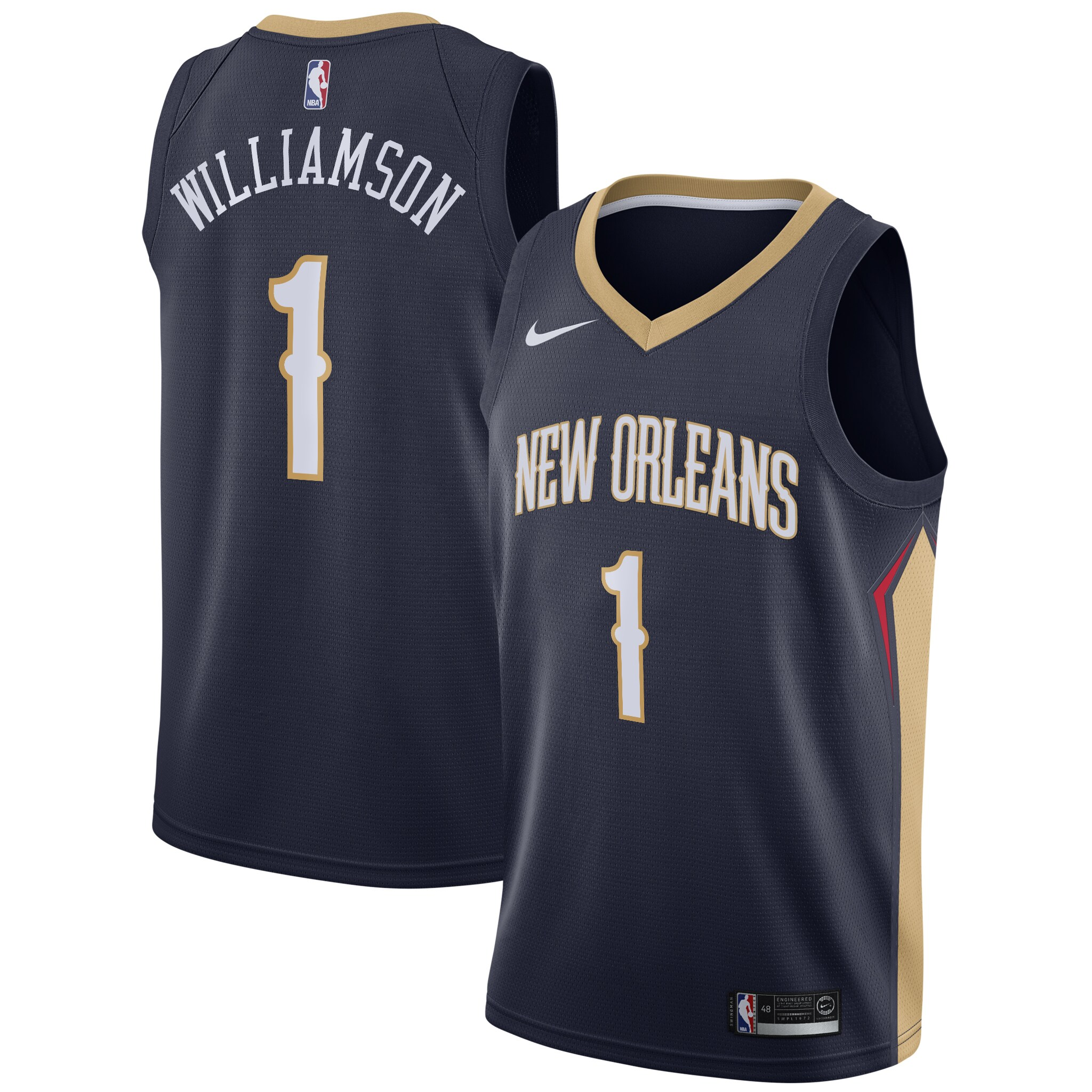 Zion Williamson New Orleans Pelicans Nike 2019 NBA Draft First Round Pick Swingman Jersey Navy - Icon Edition