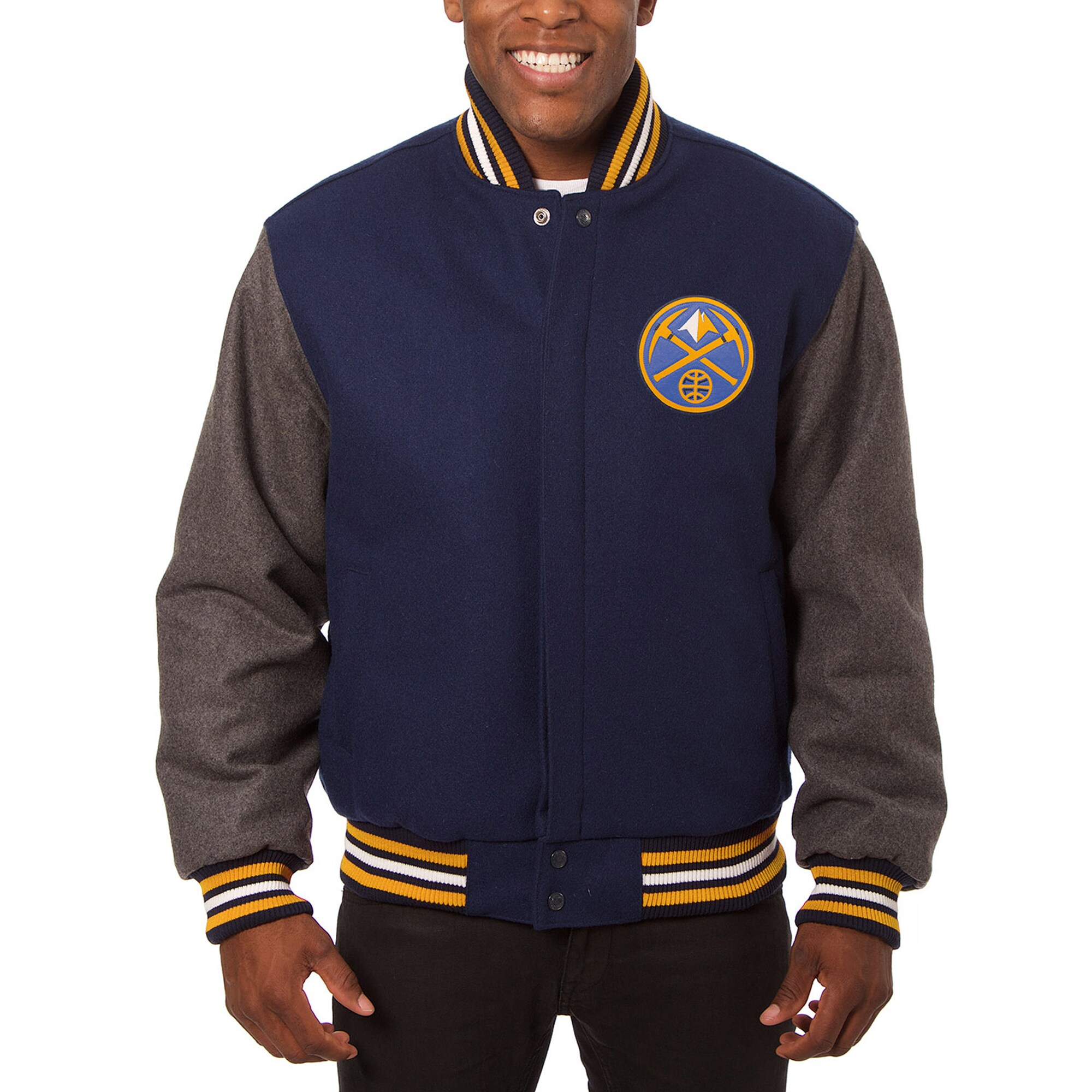 Denver Nuggets JH Design Domestic Two-Tone Wool Jacket - Navy