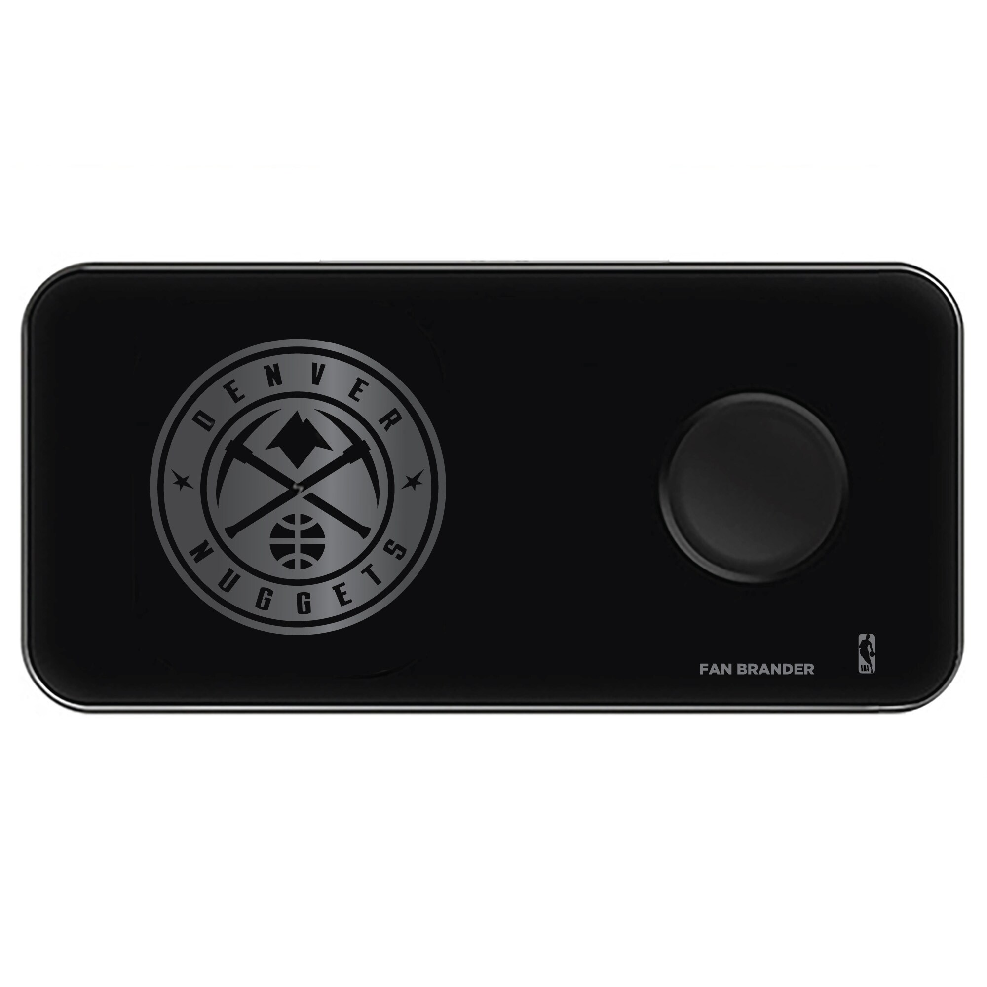 Denver Nuggets 3-in-1 Glass Wireless Charge Pad - Black