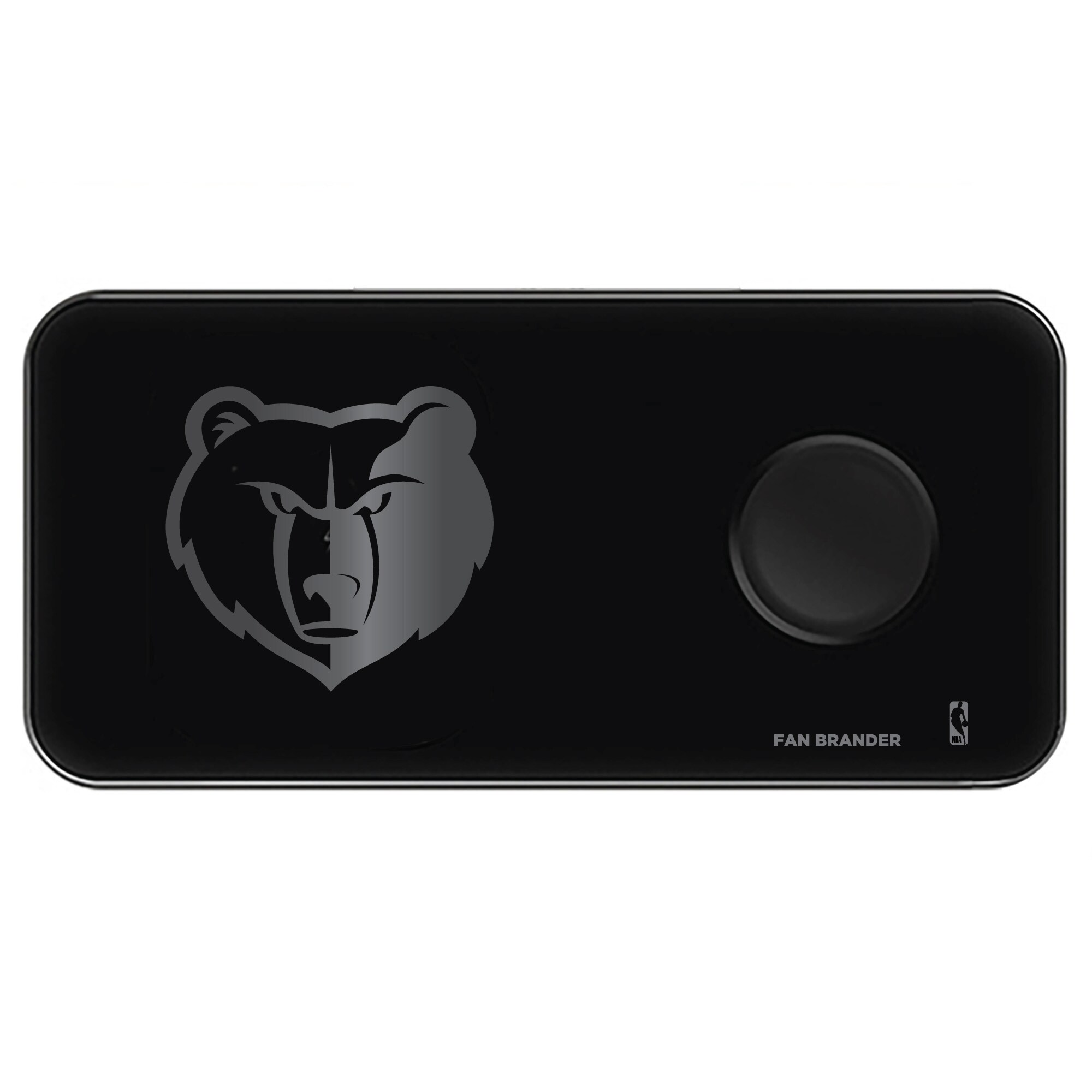 Memphis Grizzlies 3-in-1 Glass Wireless Charge Pad - Black