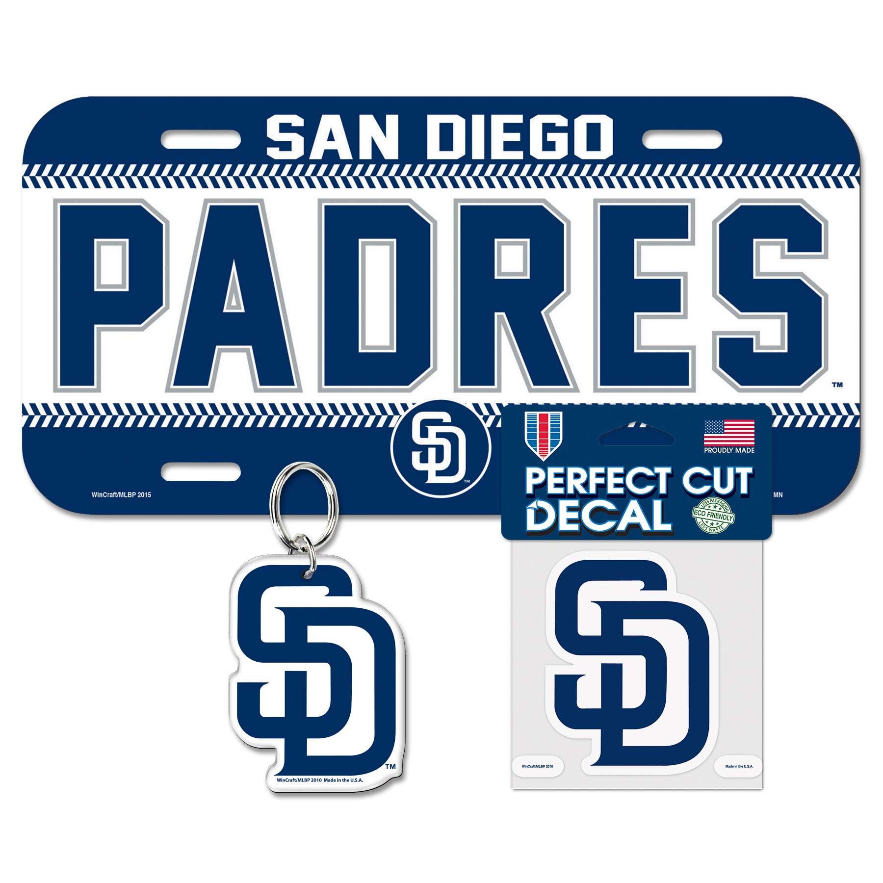 San Diego Padres WinCraft Auto Pack