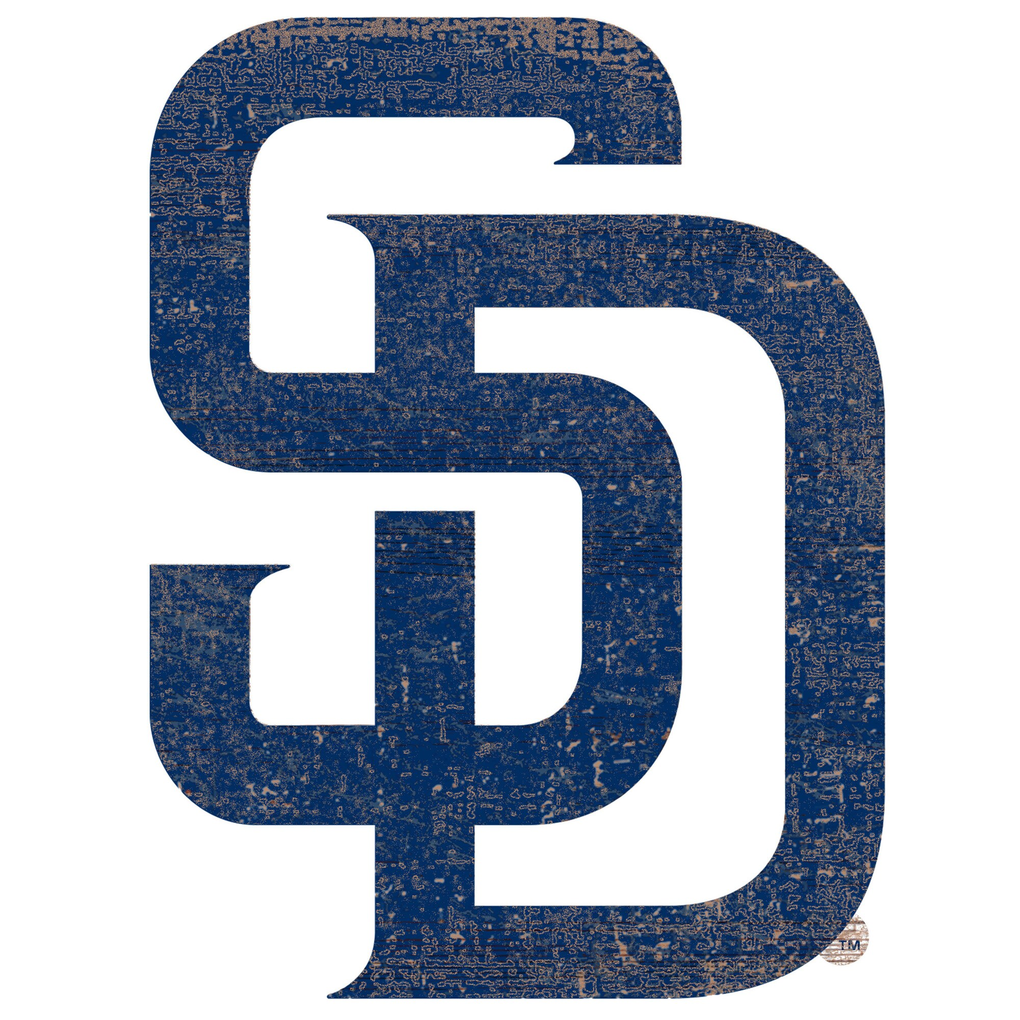 San Diego Padres 24'' x 24'' Distressed Logo Cutout Sign