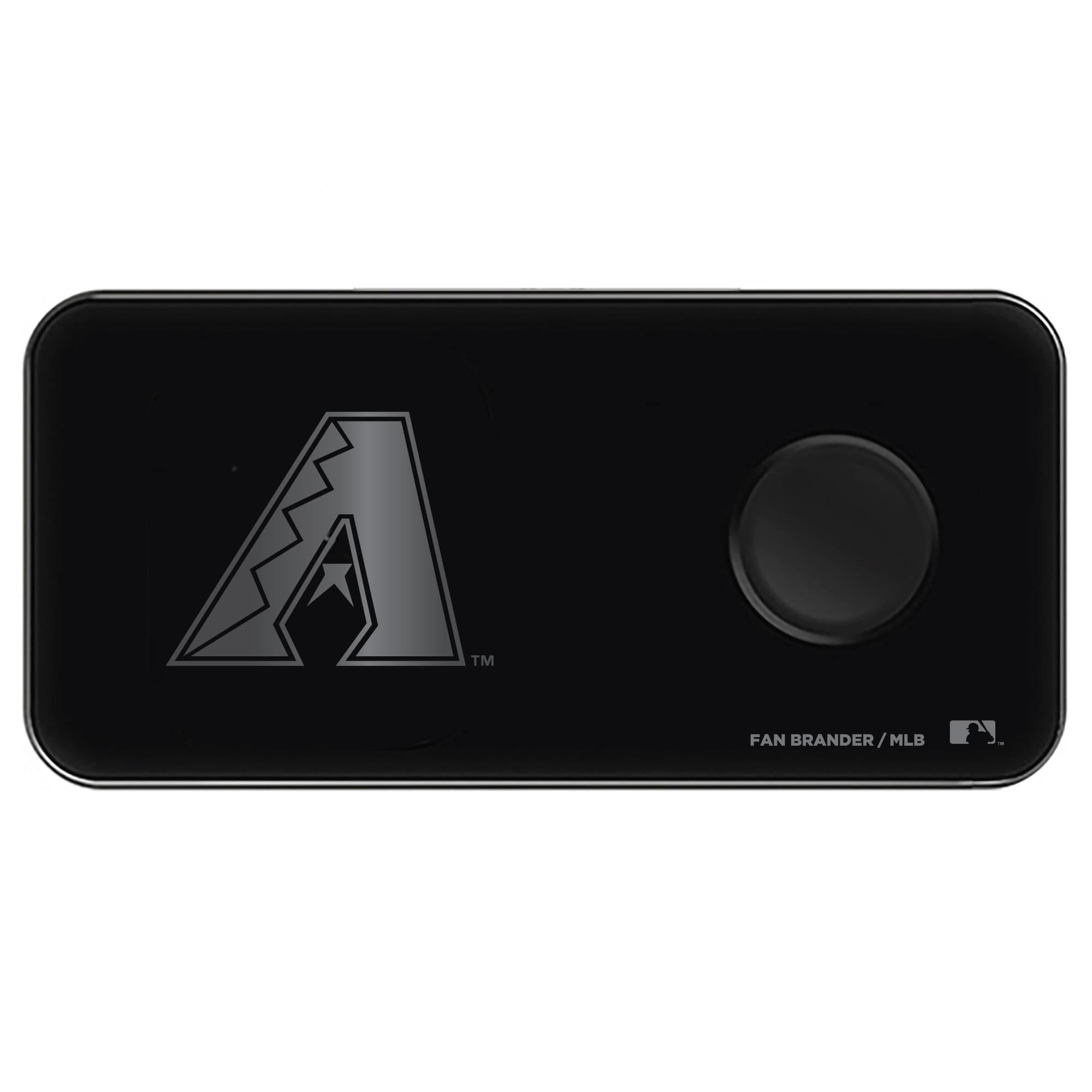 Arizona Diamondbacks 3-in-1 Glass Wireless Charge Pad - Black
