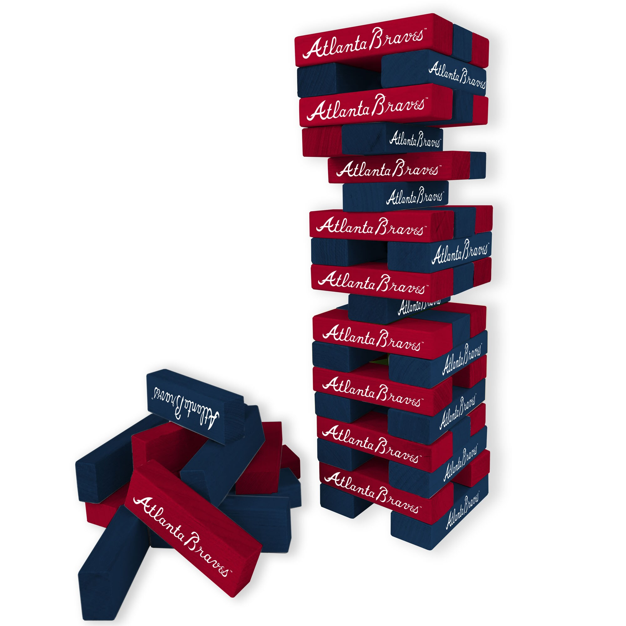 Atlanta Braves Wooden Table Top Stackers