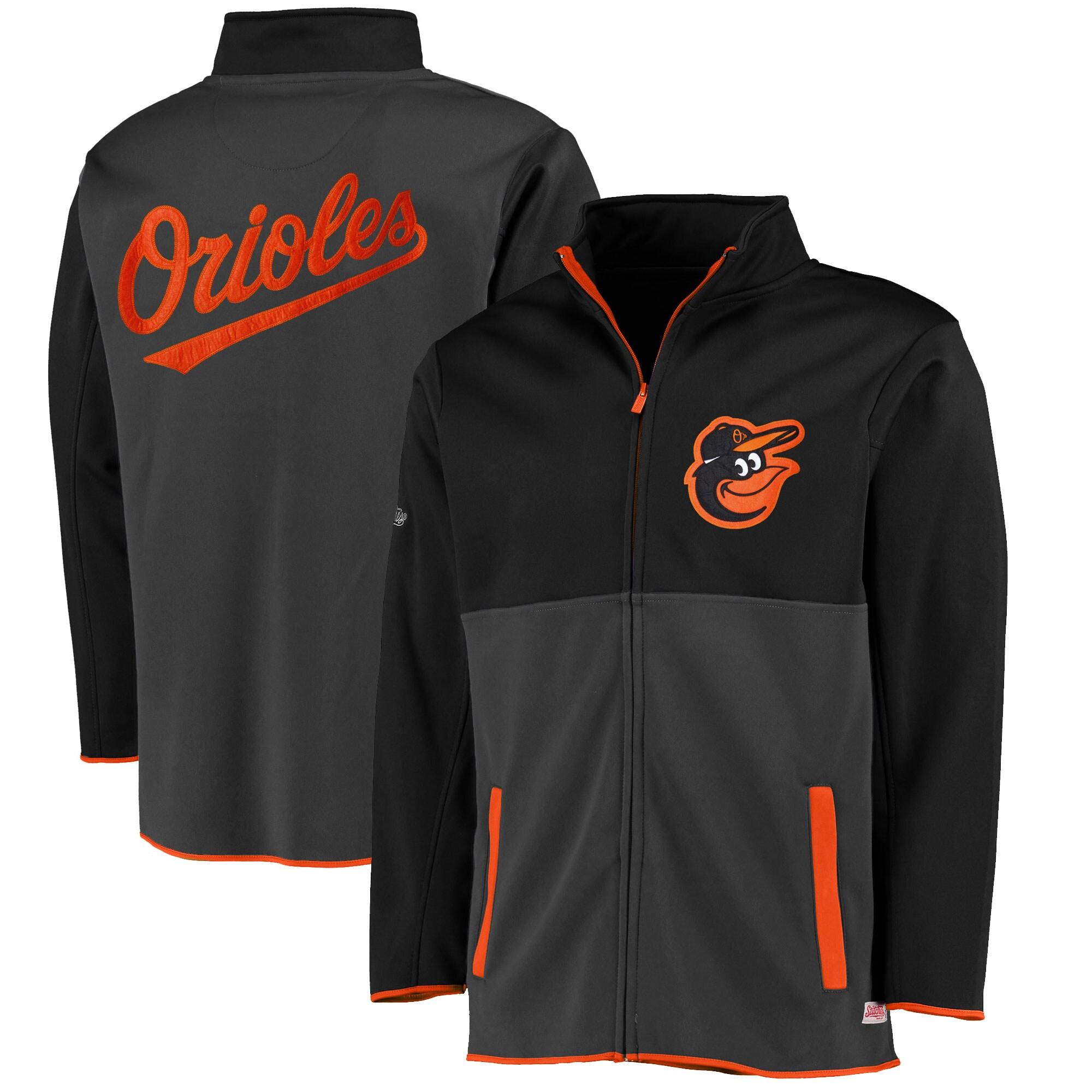 Baltimore Orioles Stitches Fashion Track Jacket - Black
