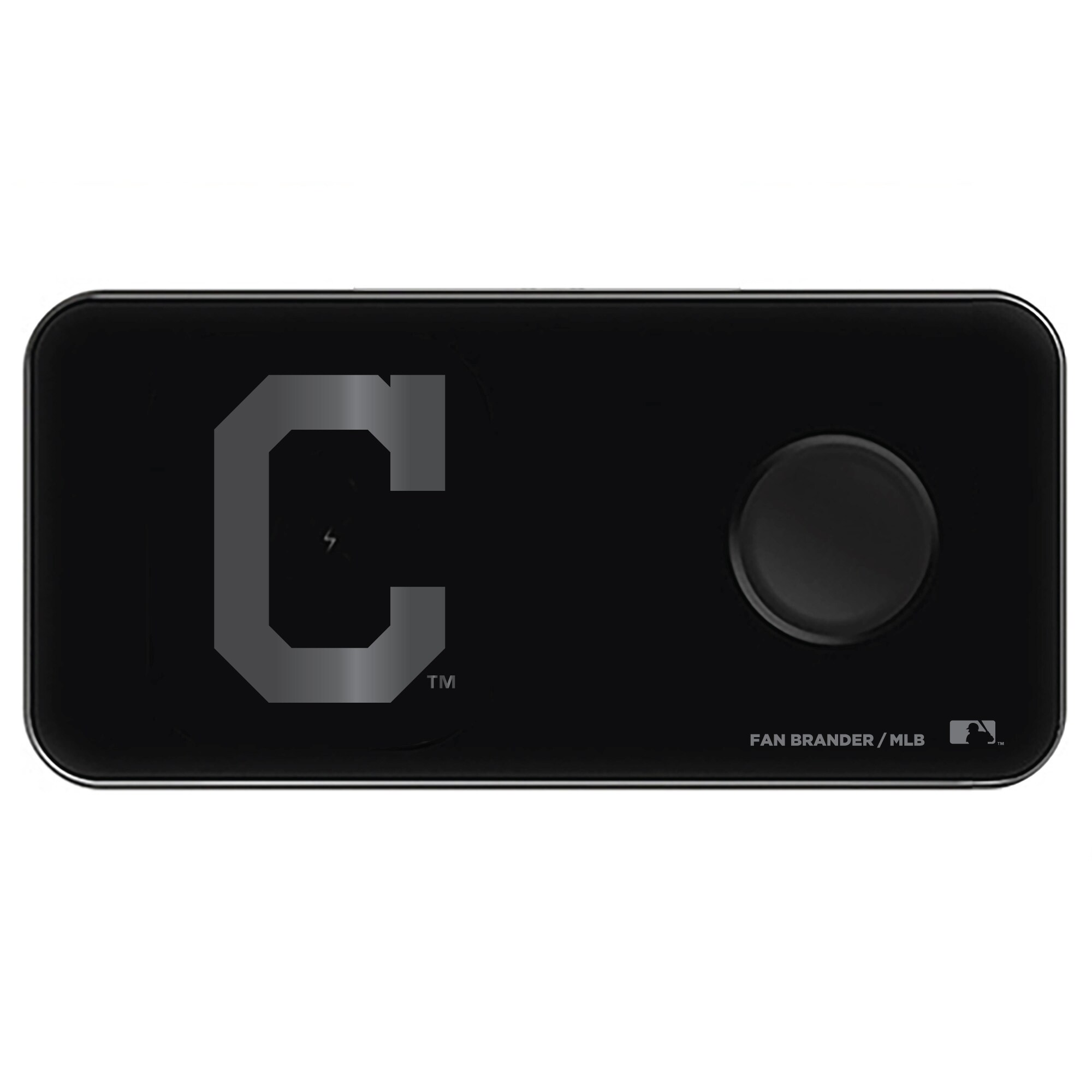 Cleveland Indians 3-in-1 Glass Wireless Charge Pad - Black