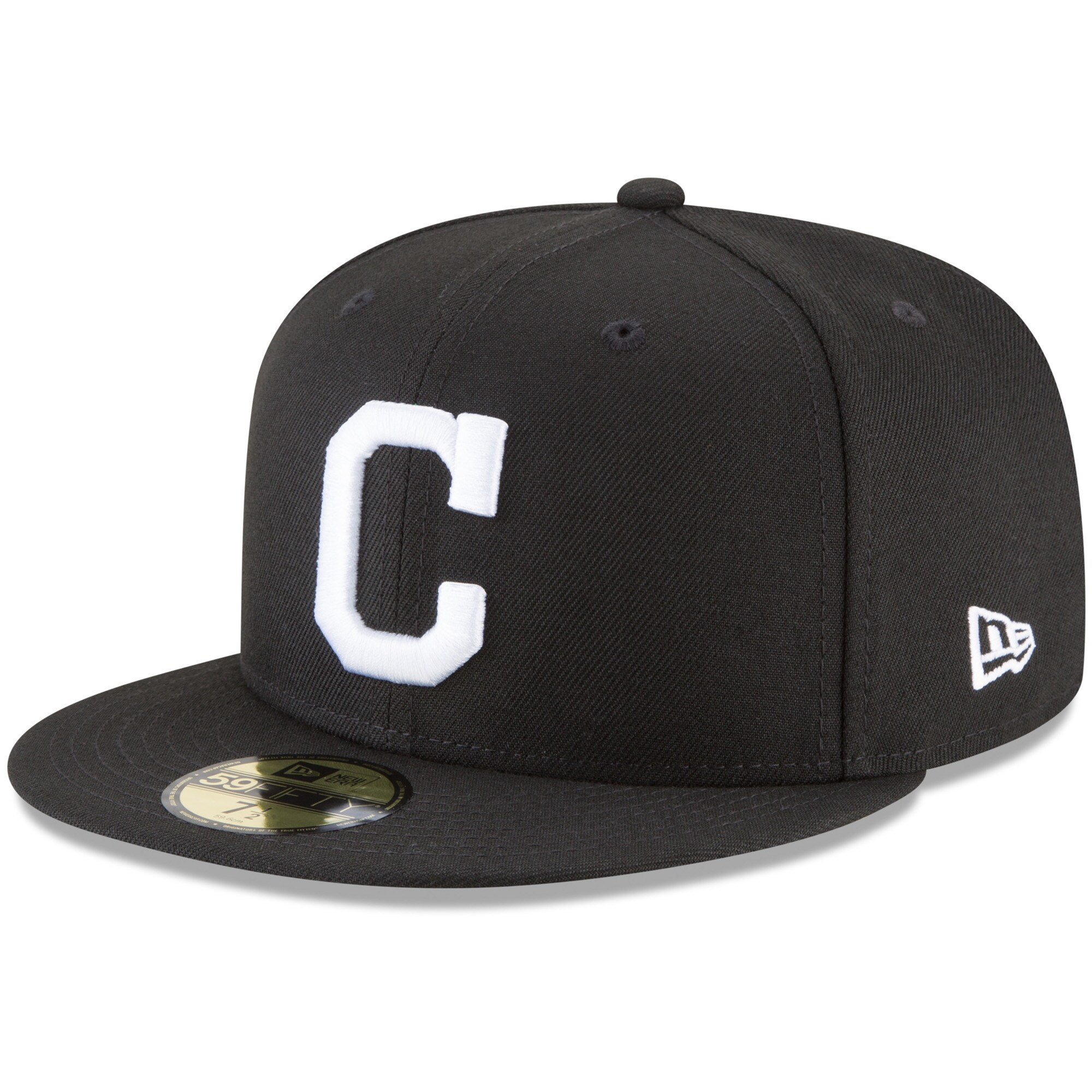 Cleveland Indians New Era 59FIFTY Fitted Hat - Black