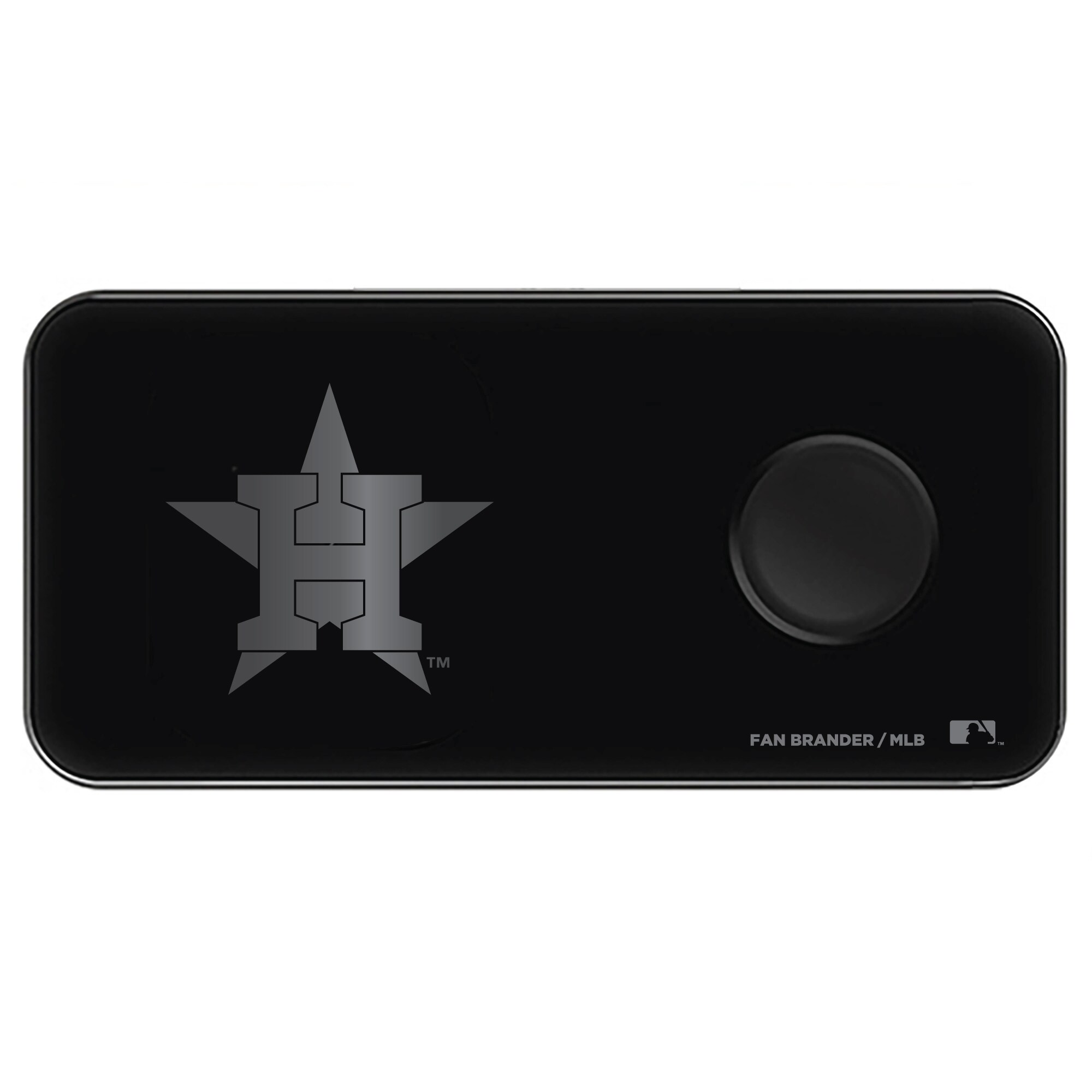 Houston Astros 3-in-1 Glass Wireless Charge Pad - Black