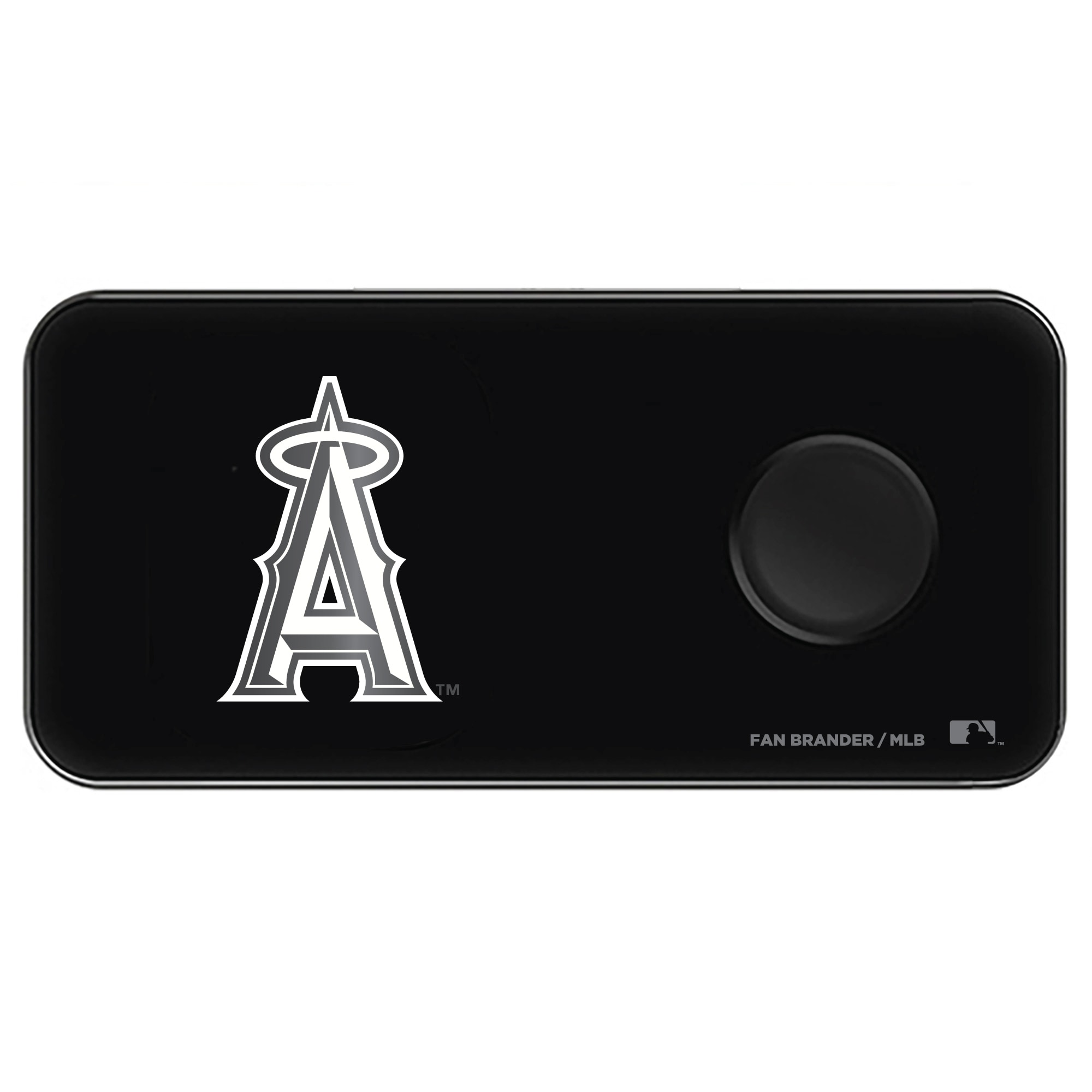 Los Angeles Angels 3-in-1 Glass Wireless Charge Pad - Black