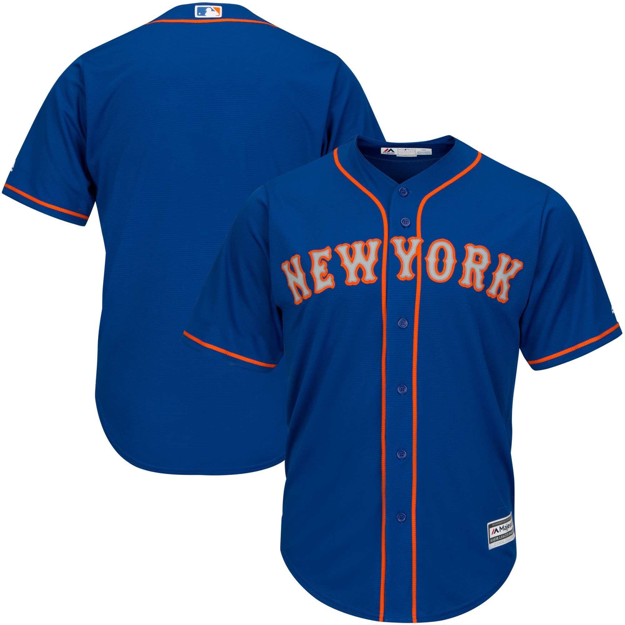 New York Mets Majestic Official Cool Base Jersey - Royal -