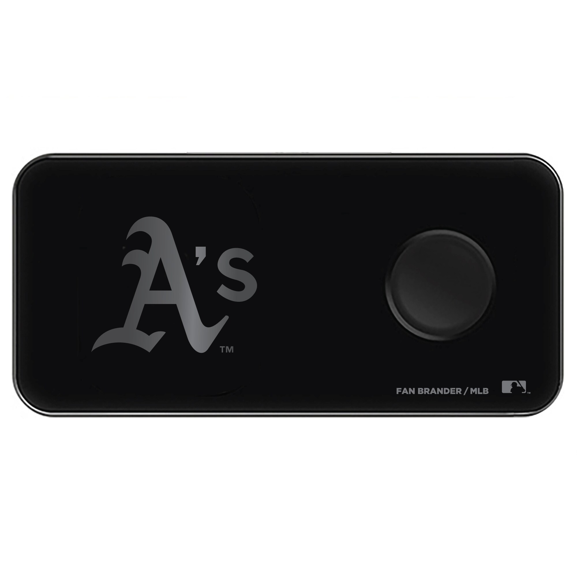 Oakland Athletics 3-in-1 Glass Wireless Charge Pad - Black